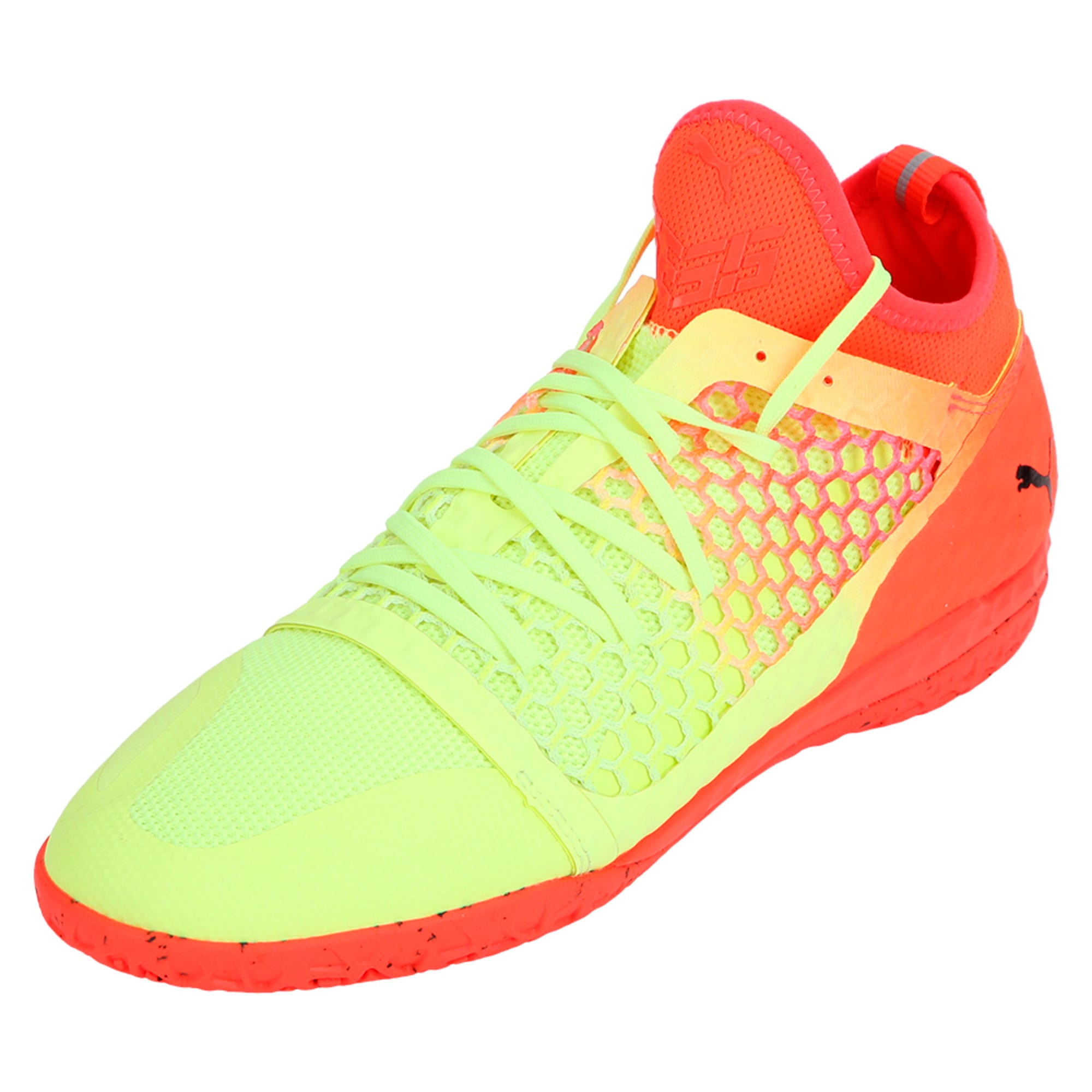 Thumbnail 1 of 365 IGNITE NETFIT CT Men's Court Football Boots, Yellow-Red-Black, medium-IND