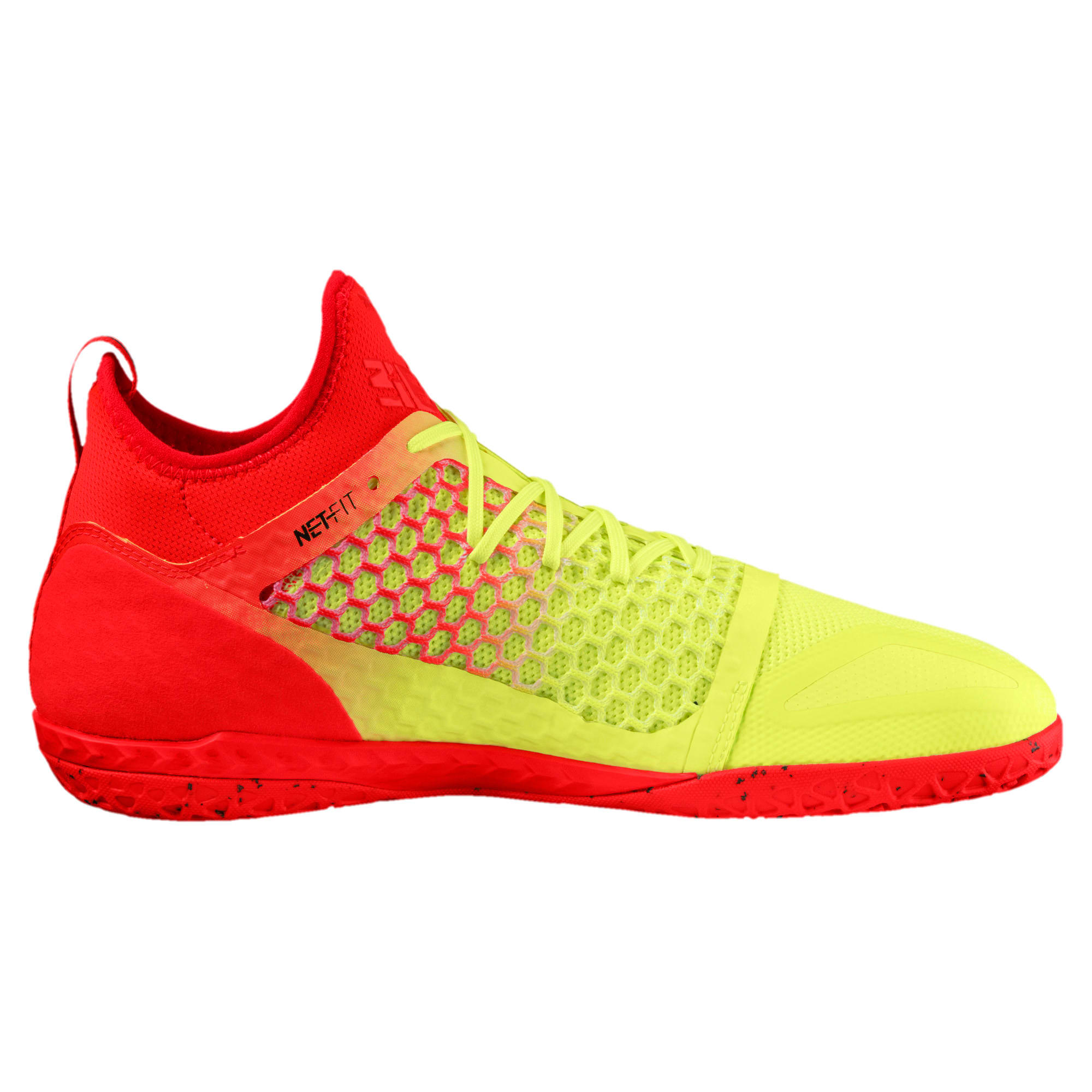 Thumbnail 4 of 365 IGNITE NETFIT CT Men's Court Football Boots, Yellow-Red-Black, medium-IND