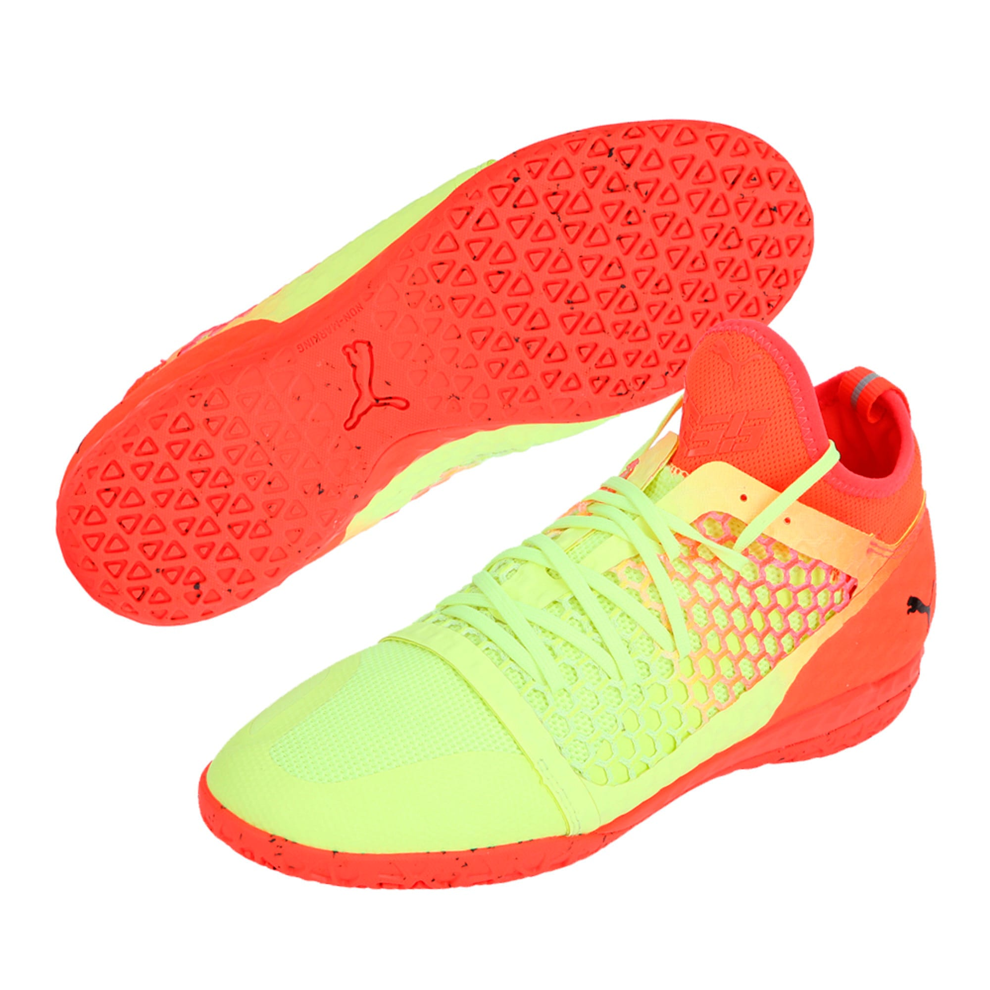 Thumbnail 6 of 365 IGNITE NETFIT CT Men's Court Football Boots, Yellow-Red-Black, medium-IND