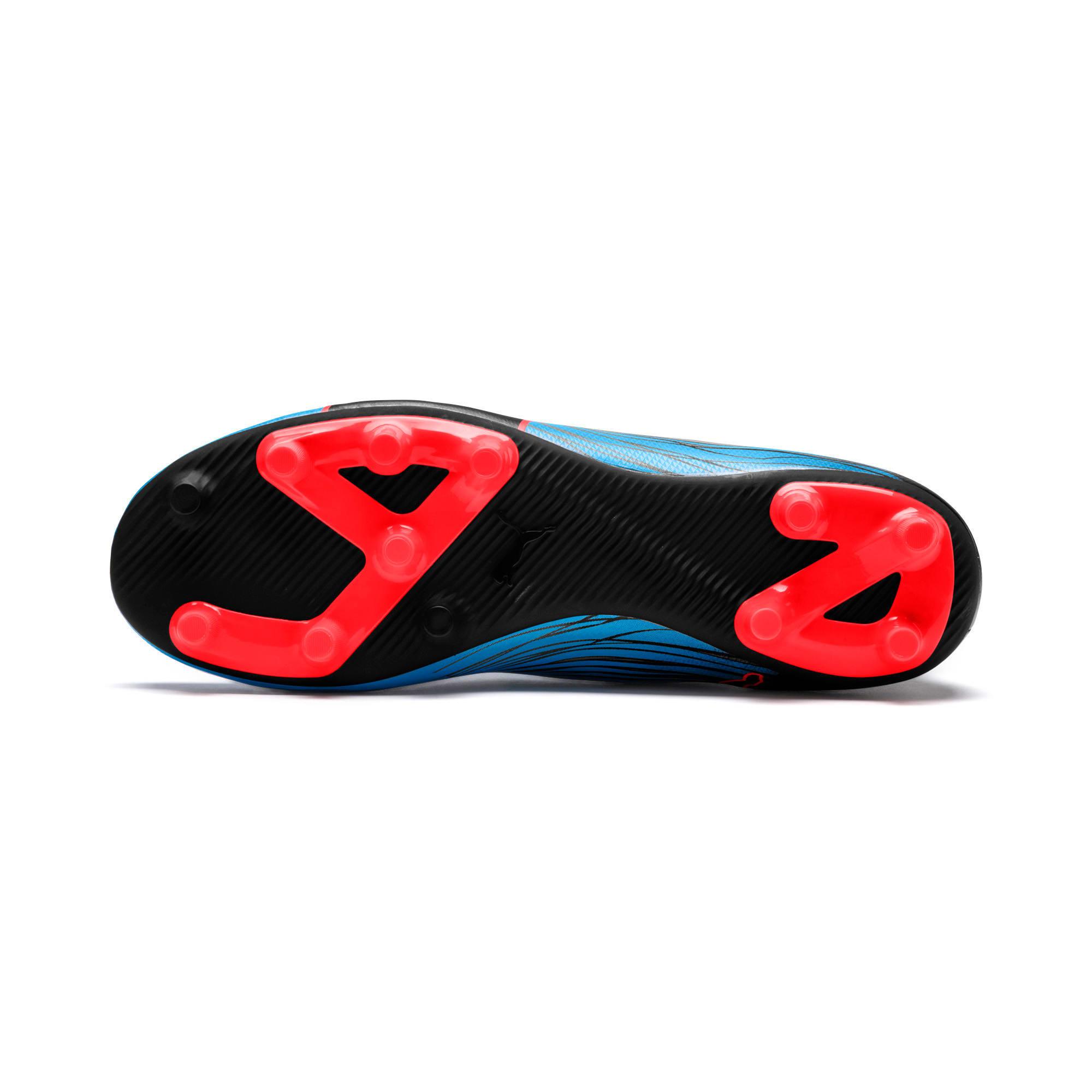 Thumbnail 3 of evoKNIT FTB II FG Men's Football Boots, Bleu Azur-Red Blast-Black, medium-IND