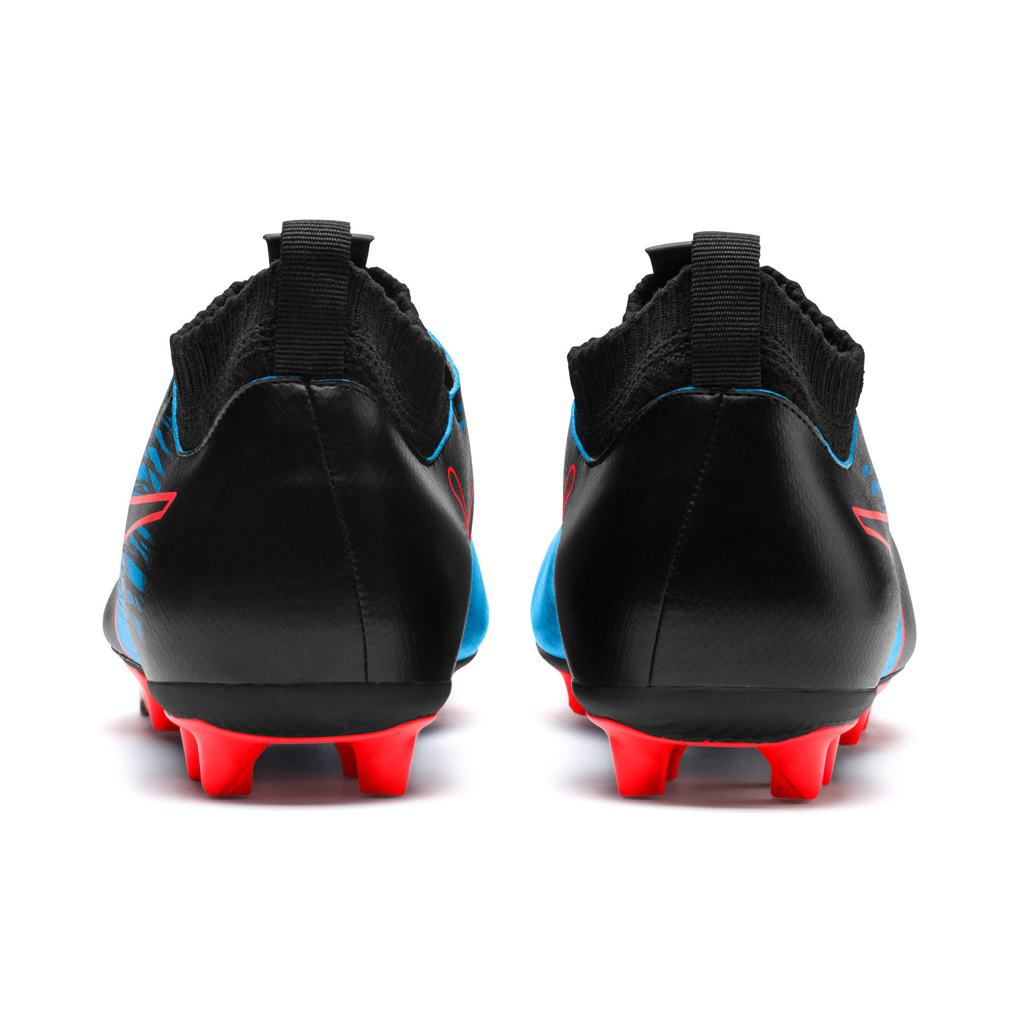 Thumbnail 2 of evoKNIT FTB II FG Men's Football Boots, Bleu Azur-Red Blast-Black, medium-IND