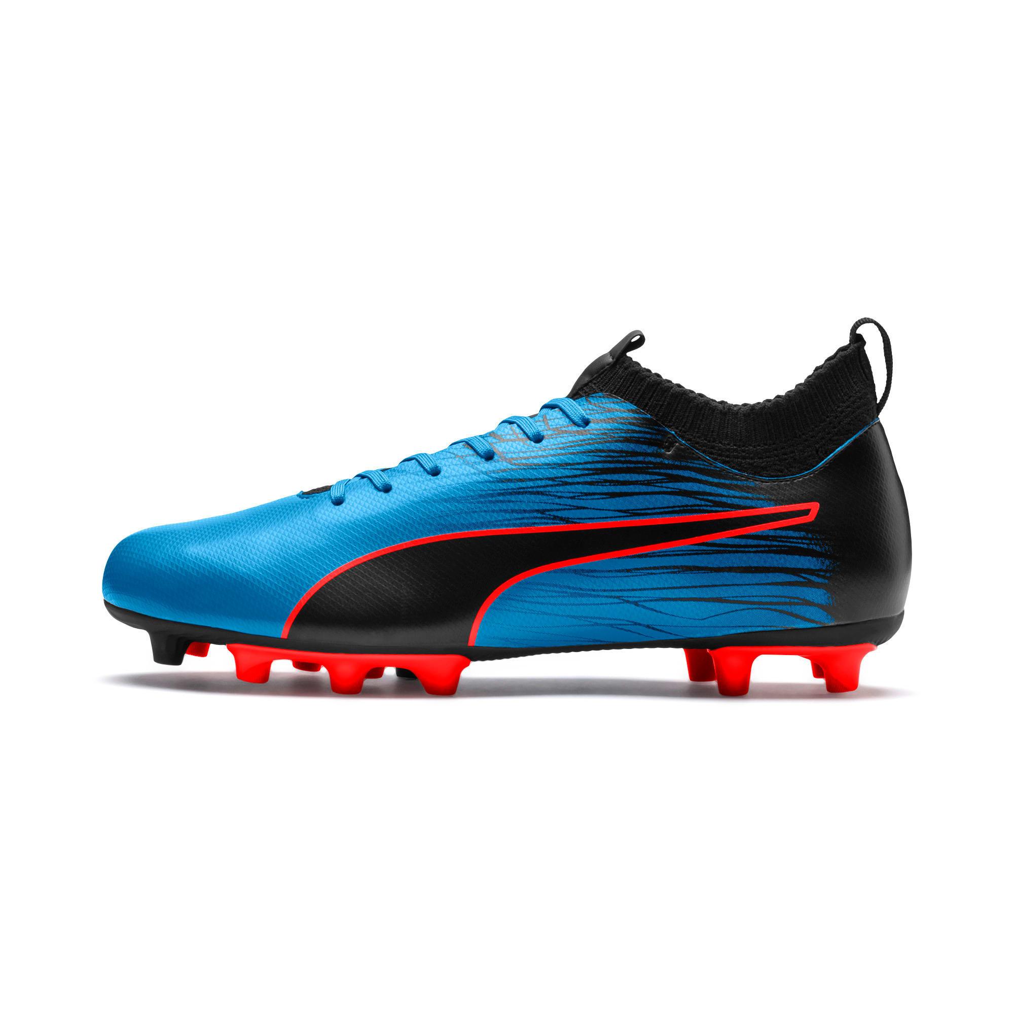 Thumbnail 1 of evoKNIT FTB II FG Men's Football Boots, Bleu Azur-Red Blast-Black, medium-IND