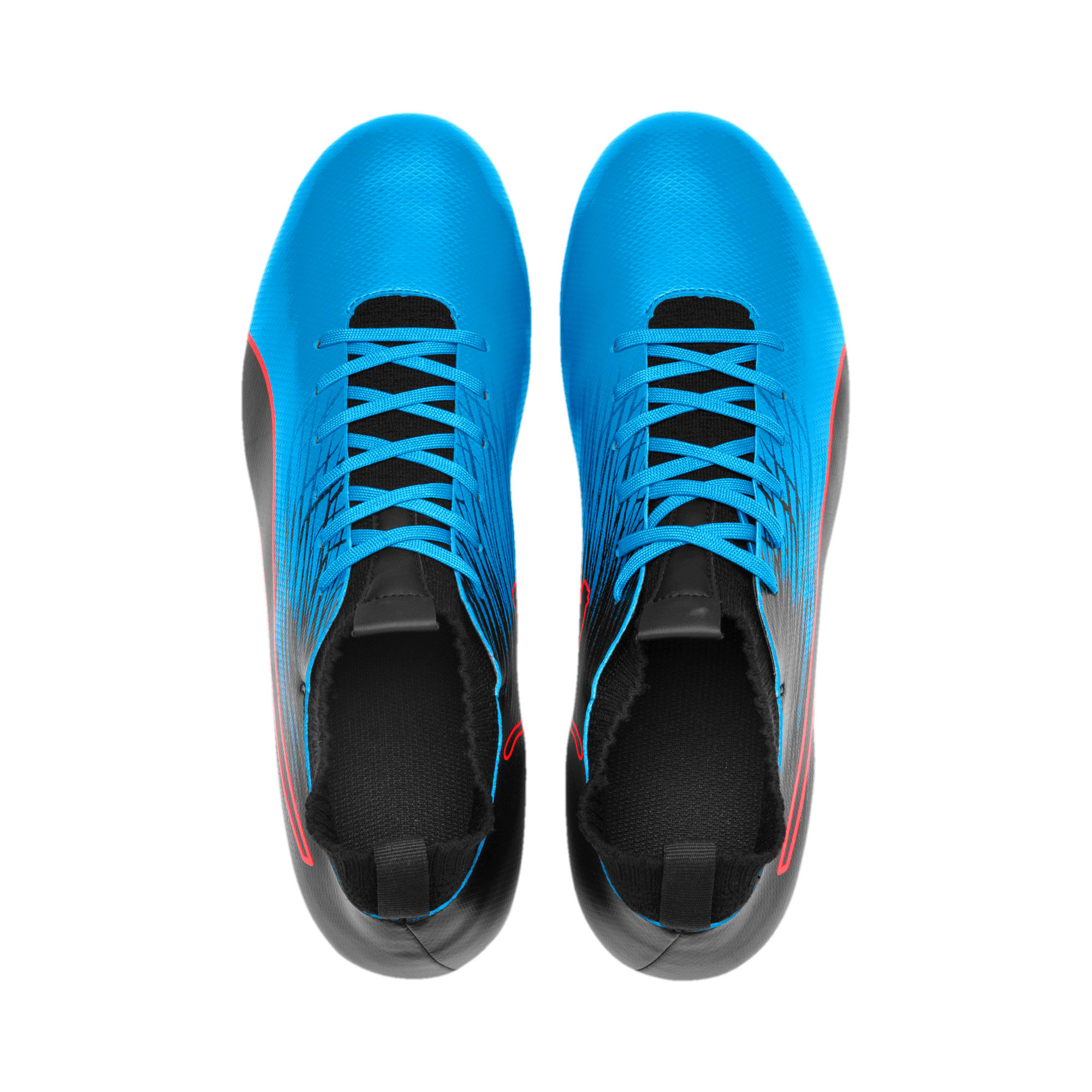 Thumbnail 5 of evoKNIT FTB II FG Men's Football Boots, Bleu Azur-Red Blast-Black, medium-IND