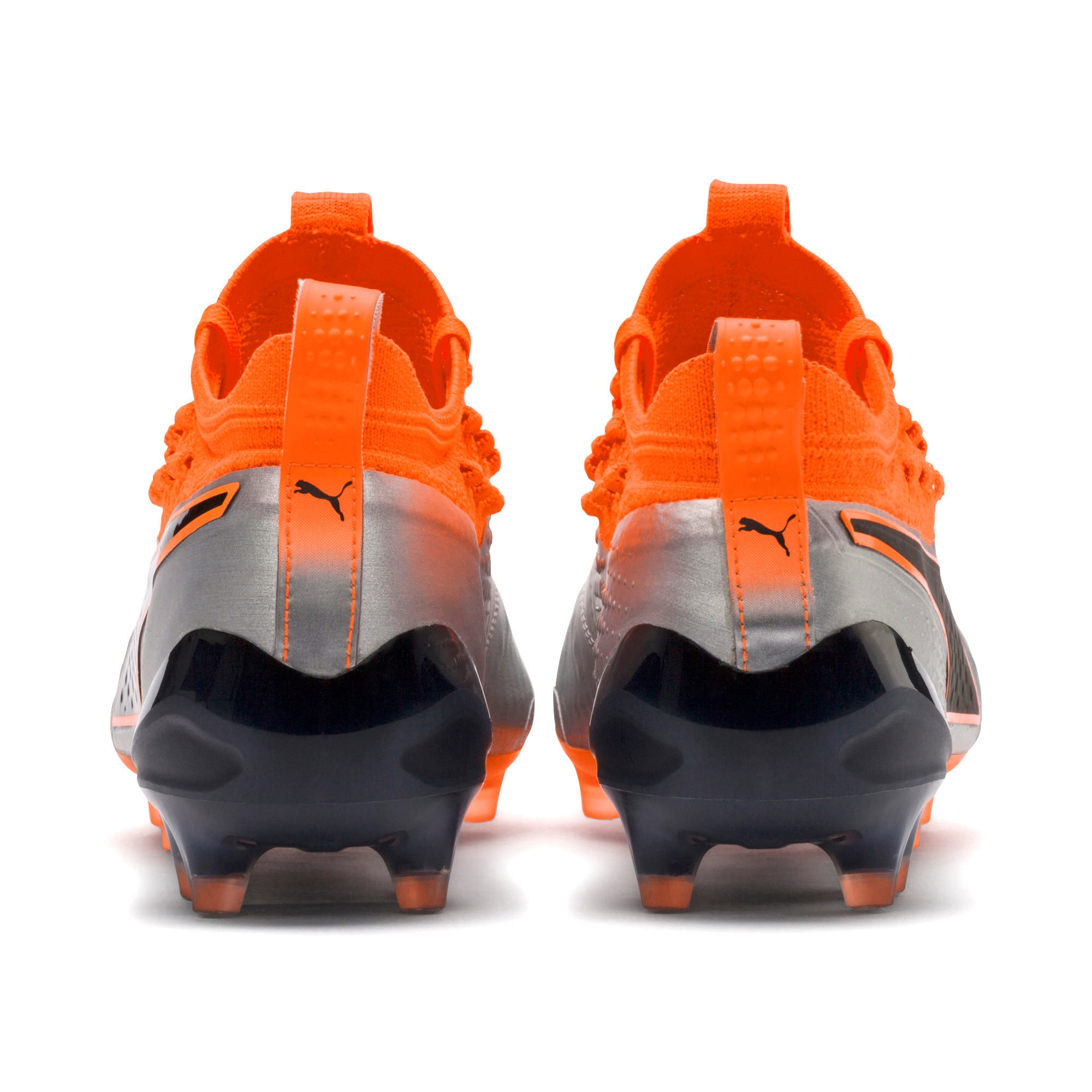 Thumbnail 4 of PUMA ONE 1 Leather FG/AG Men's Football Boots, Silver-Orange-Black, medium-IND