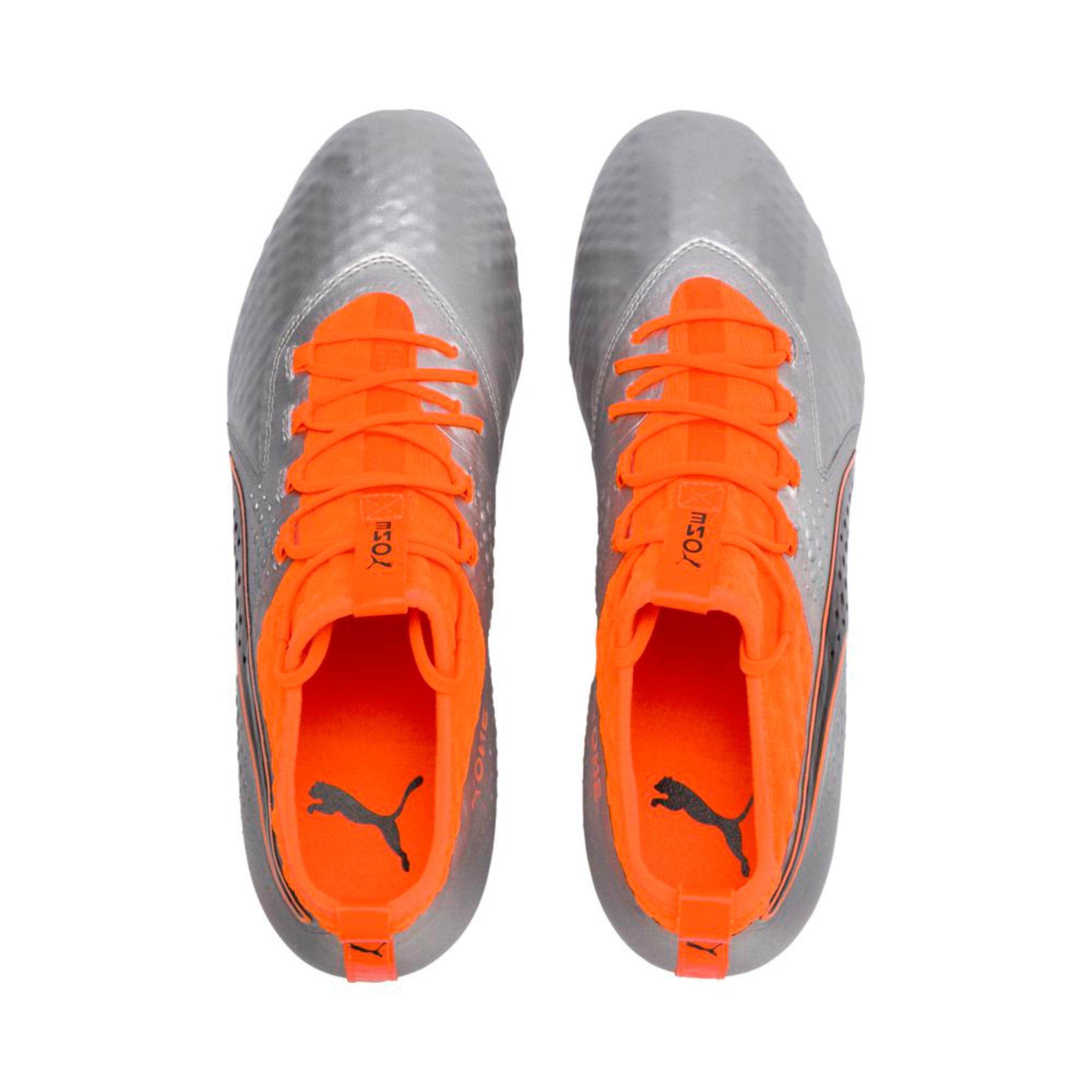 Thumbnail 3 of PUMA ONE 2 Leather FG  Football Boots, Silver-Orange-Black, medium-IND