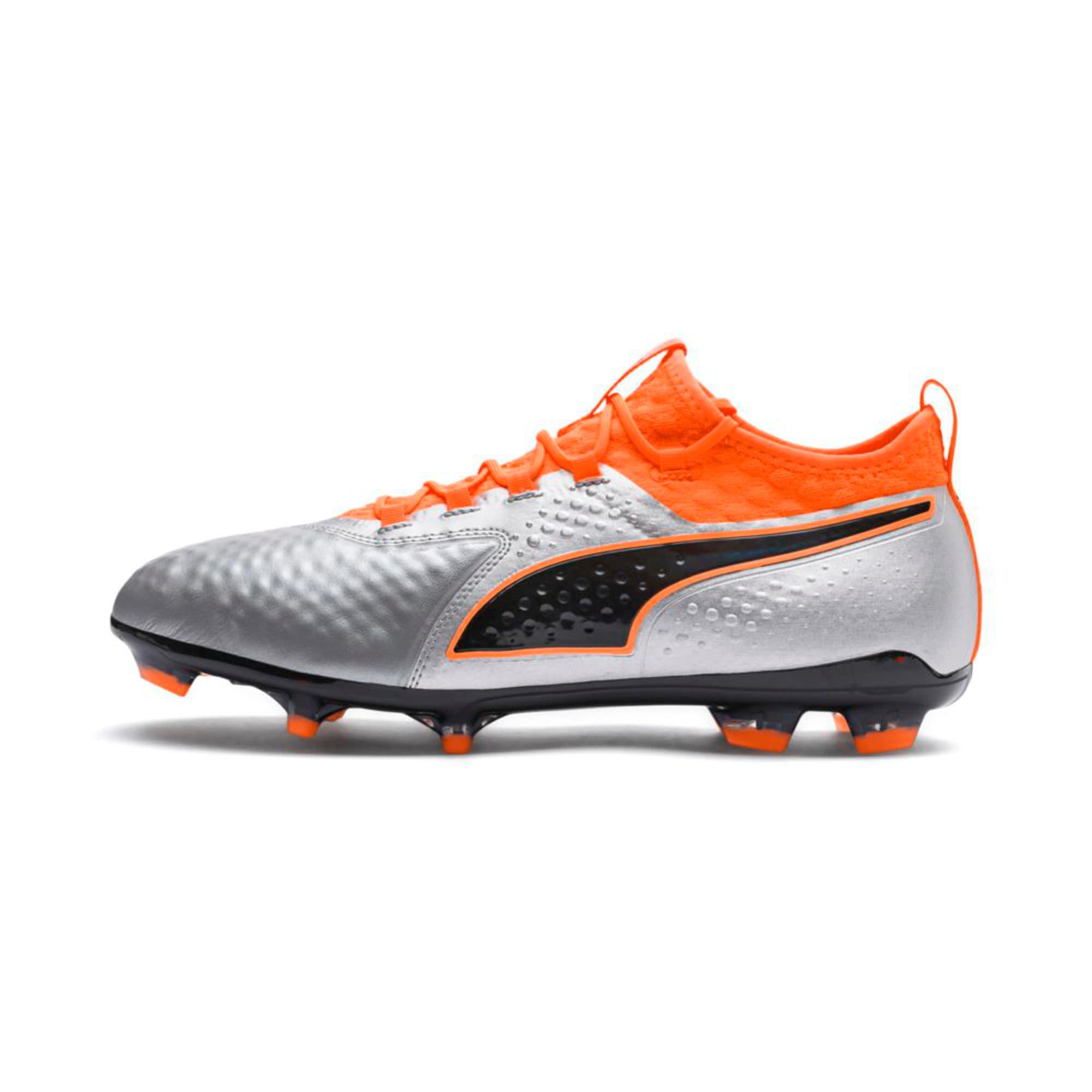 Thumbnail 1 of PUMA ONE 2 Leather FG  Football Boots, Silver-Orange-Black, medium-IND