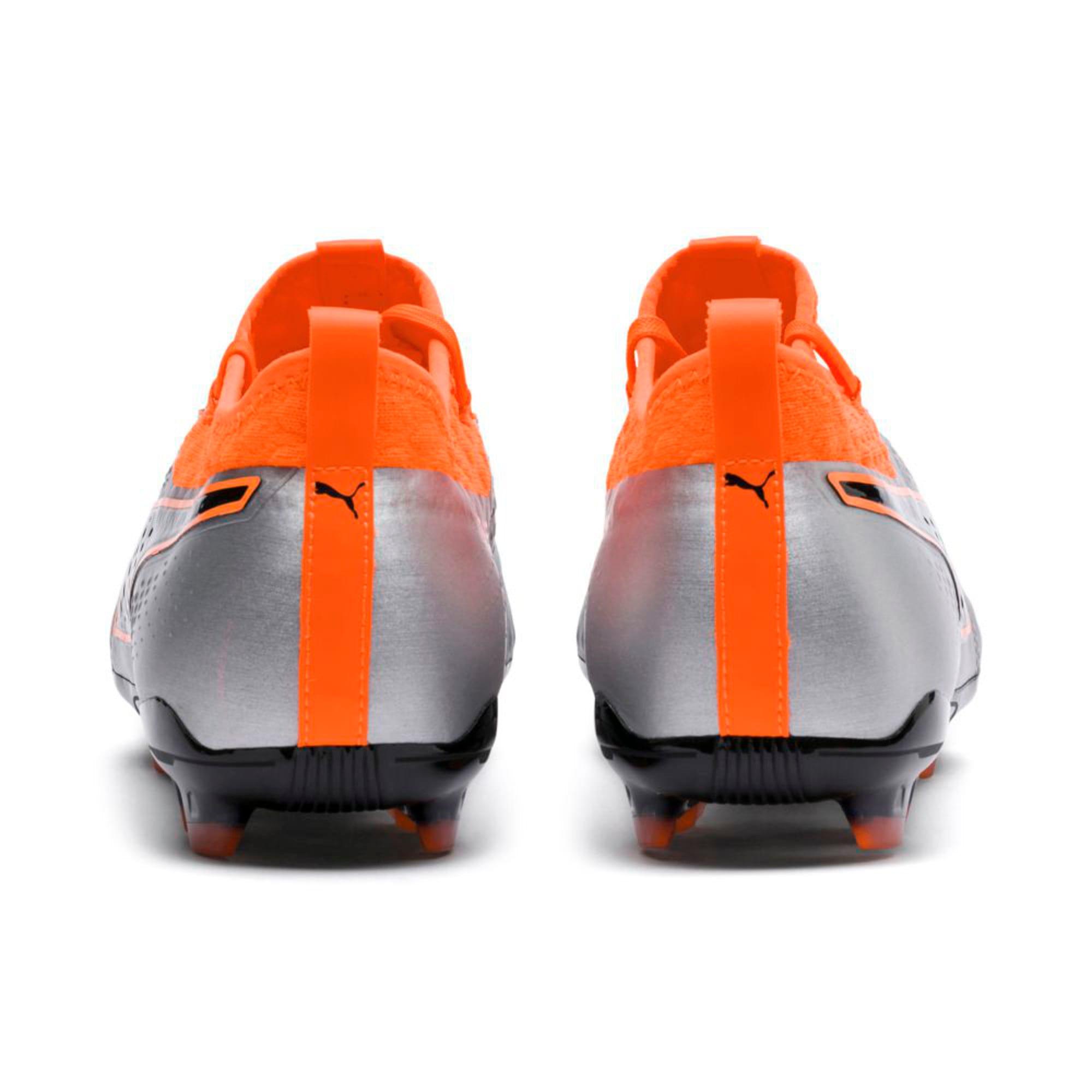 Thumbnail 4 of PUMA ONE 2 Leather FG  Football Boots, Silver-Orange-Black, medium-IND