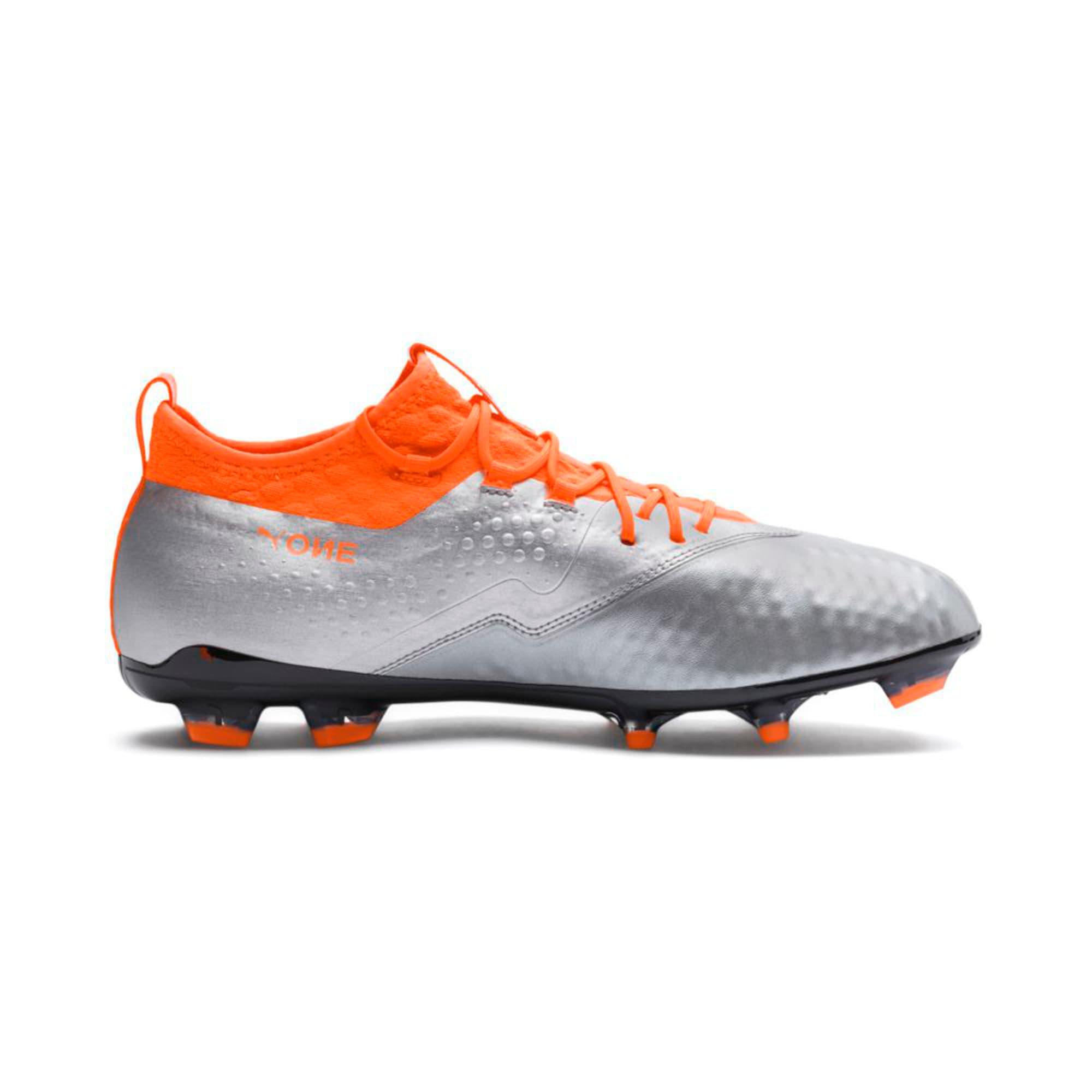 Thumbnail 5 of PUMA ONE 2 Leather FG  Football Boots, Silver-Orange-Black, medium-IND