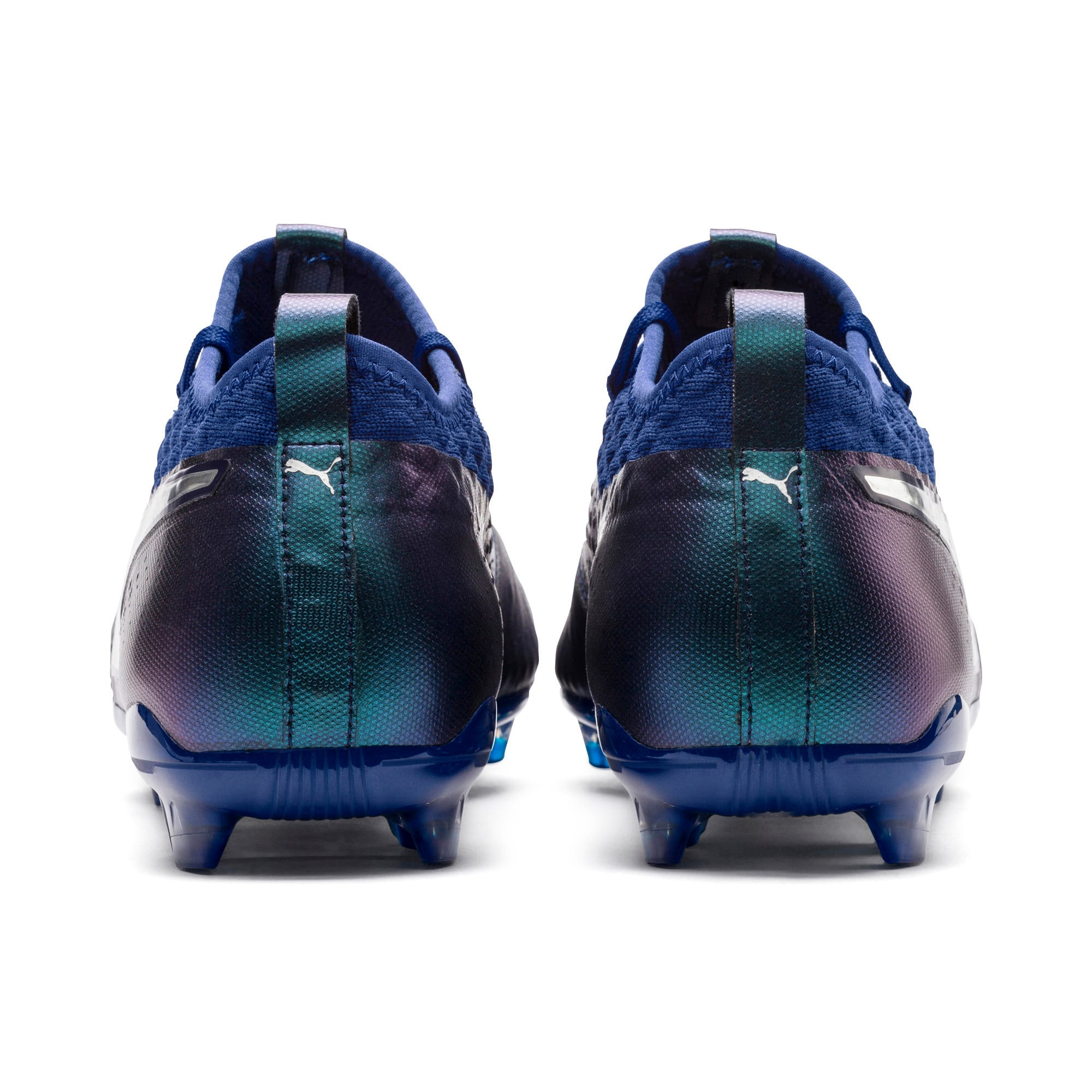 Thumbnail 3 of PUMA ONE 2 Leather FG  Football Boots, Blue-Silver-Peacoat, medium-IND
