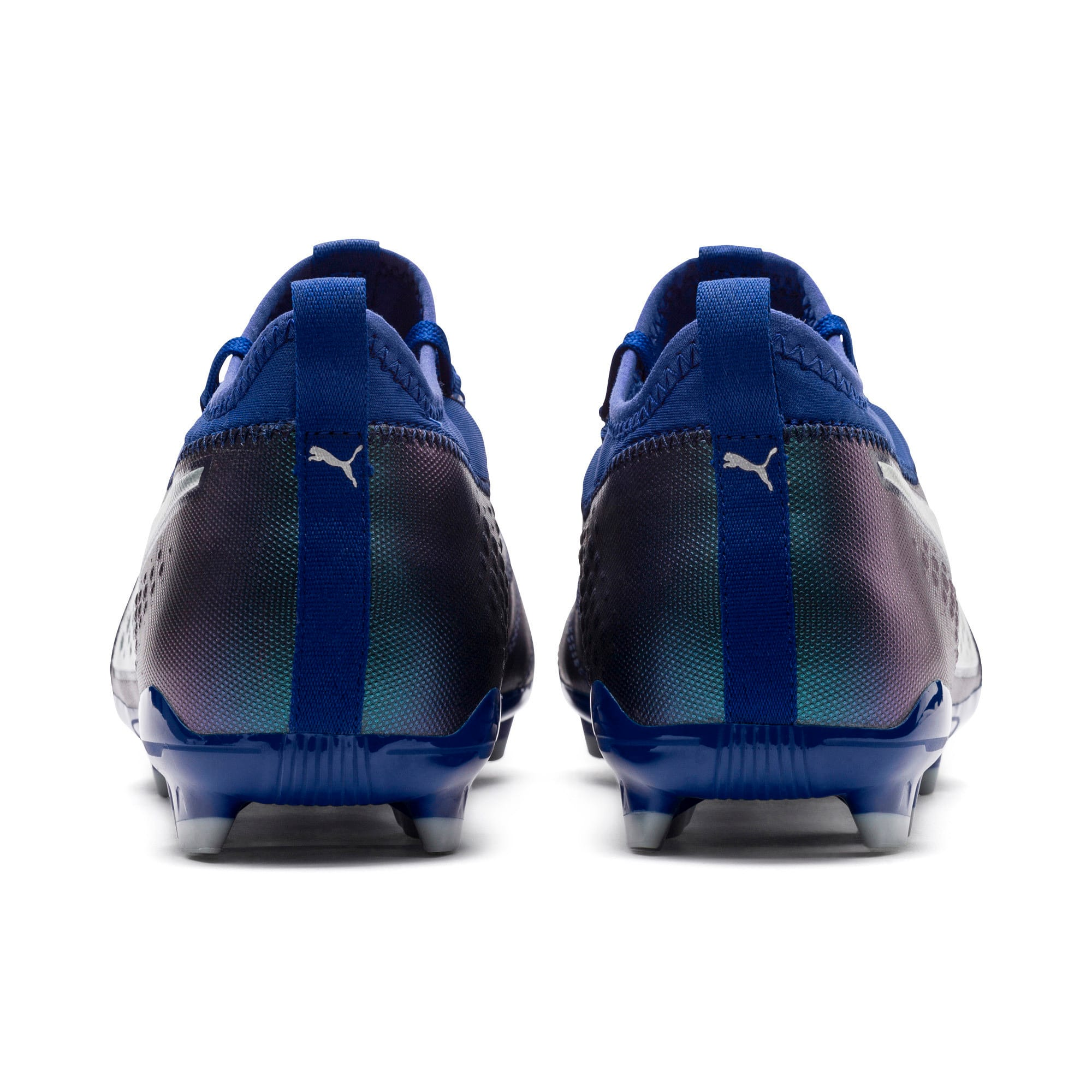 Thumbnail 3 of PUMA ONE 3 Leather FG Men's Football Boots, Sodalite Blue-Silver-Peacoat, medium-IND