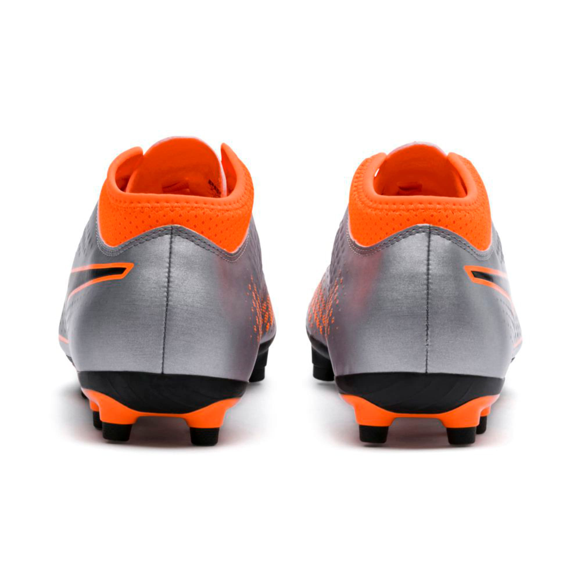 Thumbnail 4 of PUMA ONE 4 Synthetic FG Men's Football Boots, Silver-Orange-Black, medium-IND