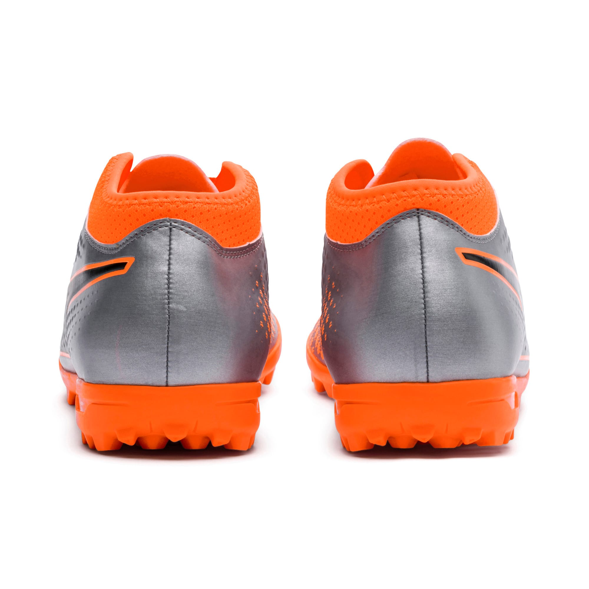 Thumbnail 3 of PUMA ONE 4 Synthetic TT Men's Football Boots, Silver-Orange-Black, medium-IND