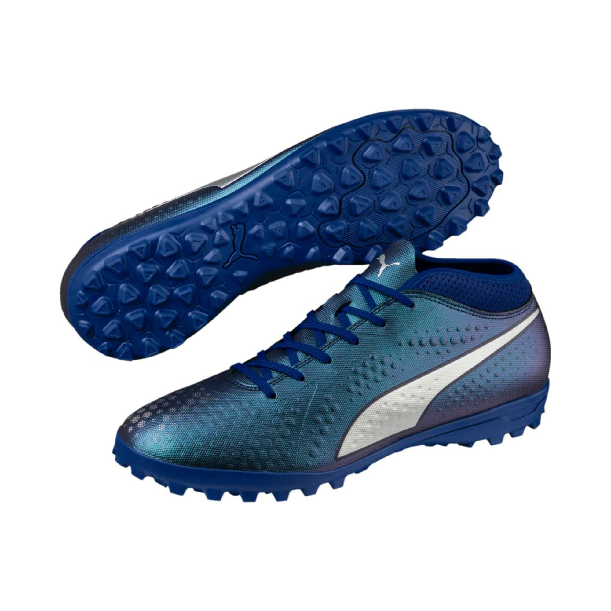 Thumbnail 2 of PUMA ONE 4 Synthetic TT Men's Football Boots, Sodalite Blue-Silver-Peacoat, medium-IND