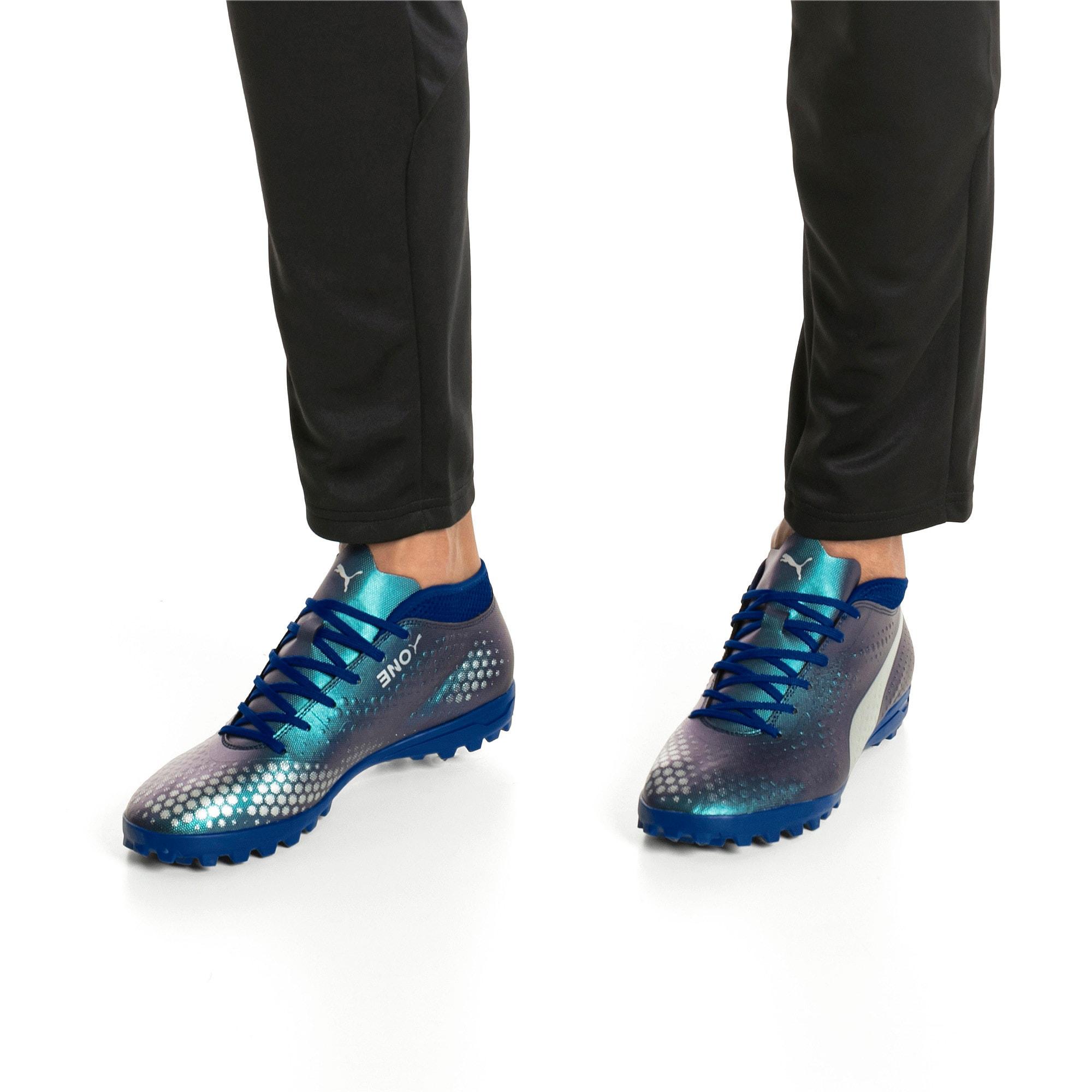 Thumbnail 7 of PUMA ONE 4 Synthetic TT Men's Football Boots, Sodalite Blue-Silver-Peacoat, medium-IND
