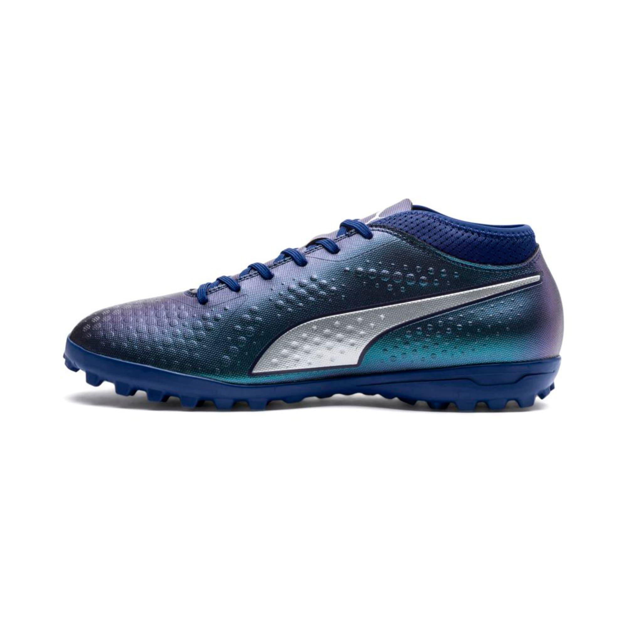 Thumbnail 1 of PUMA ONE 4 Synthetic TT Men's Football Boots, Sodalite Blue-Silver-Peacoat, medium-IND