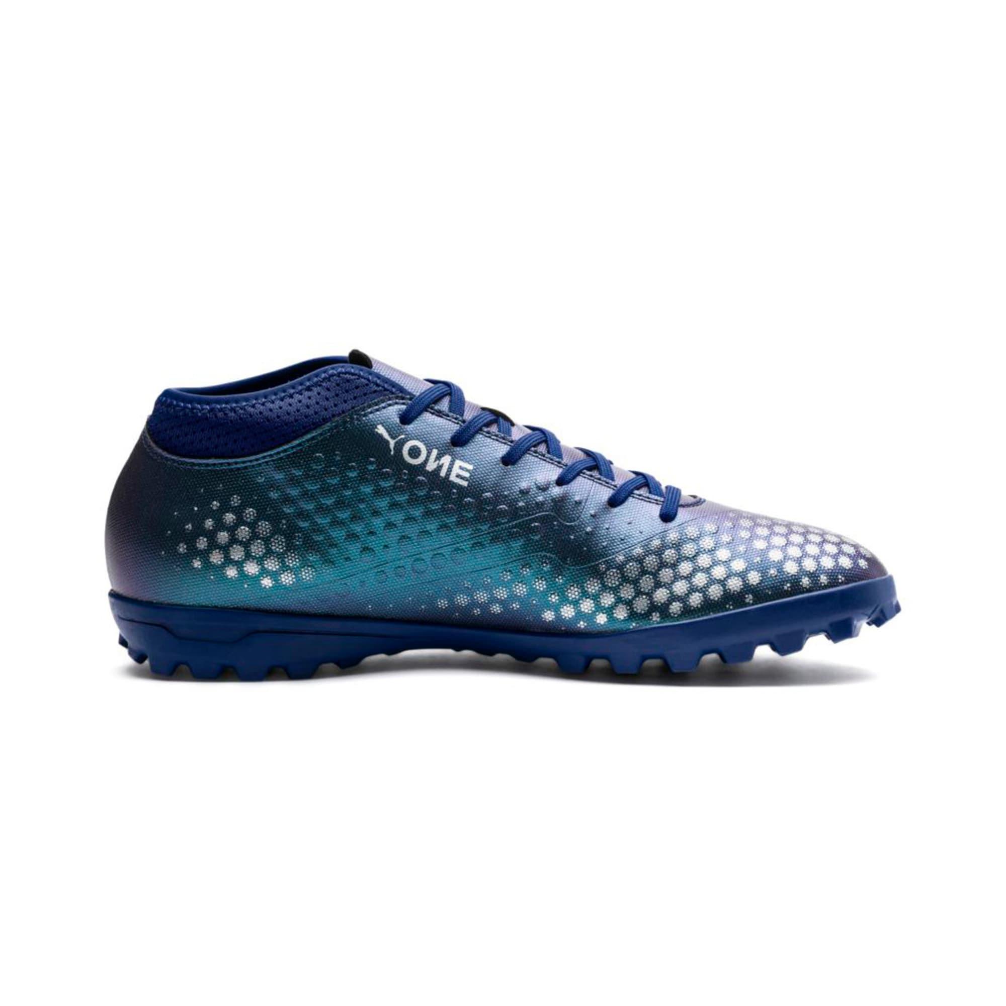 Thumbnail 5 of PUMA ONE 4 Synthetic TT Men's Football Boots, Sodalite Blue-Silver-Peacoat, medium-IND