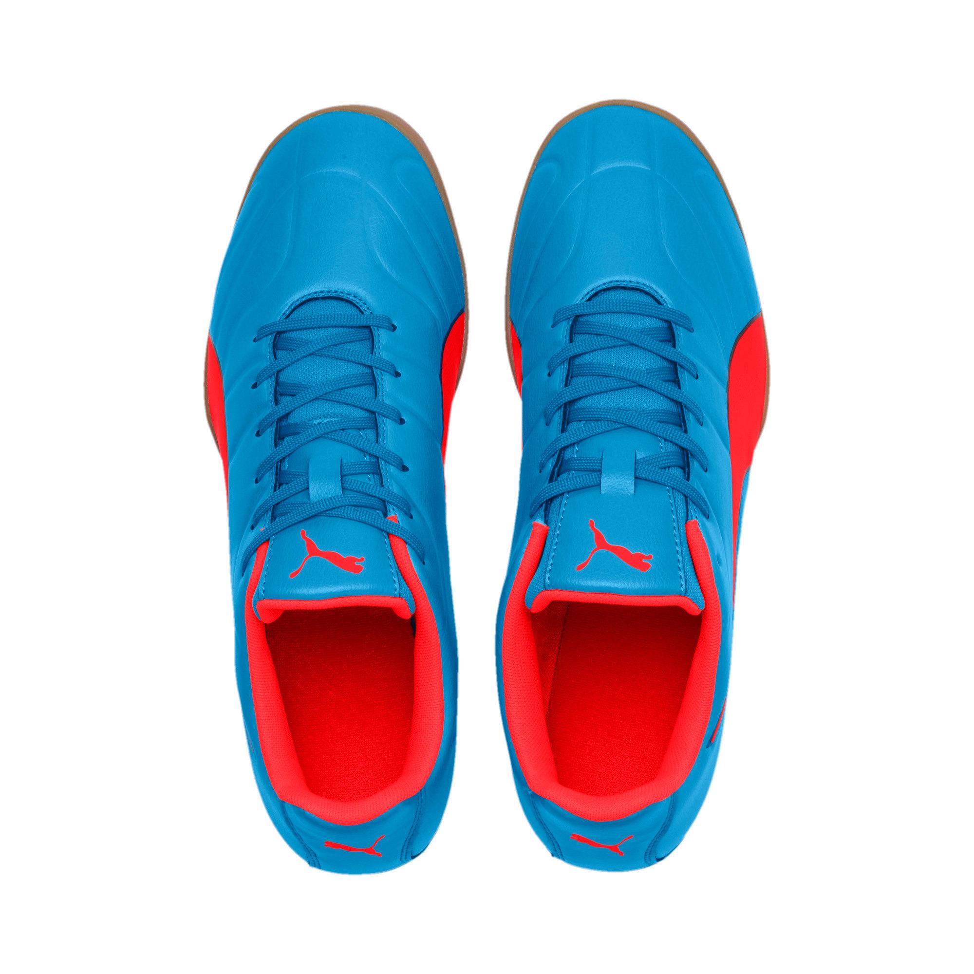 Thumbnail 4 of Classico C II Sala Men's Football Boots, Bleu Azur-Red Blast-Black, medium-IND