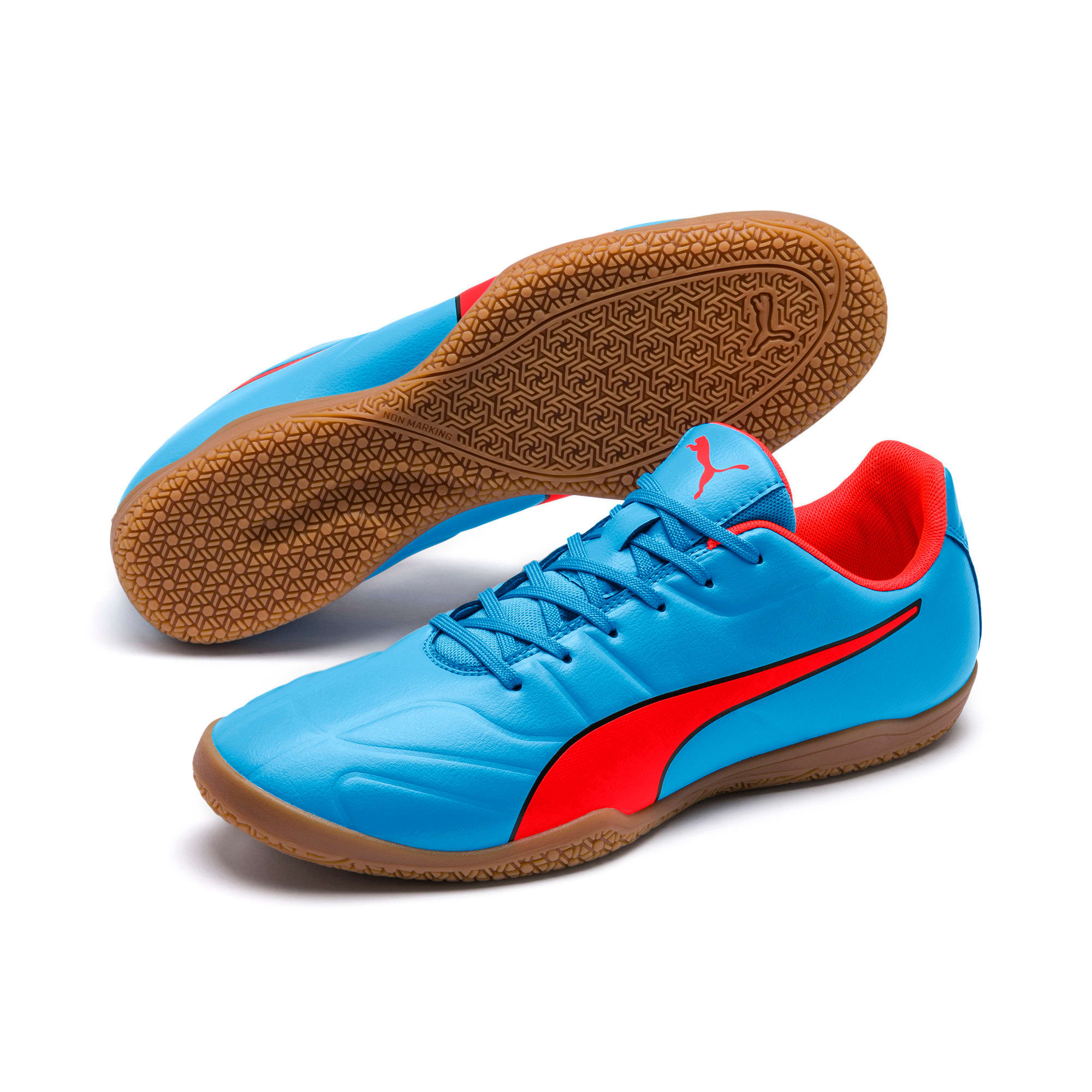 Thumbnail 6 of Classico C II Sala Men's Football Boots, Bleu Azur-Red Blast-Black, medium-IND