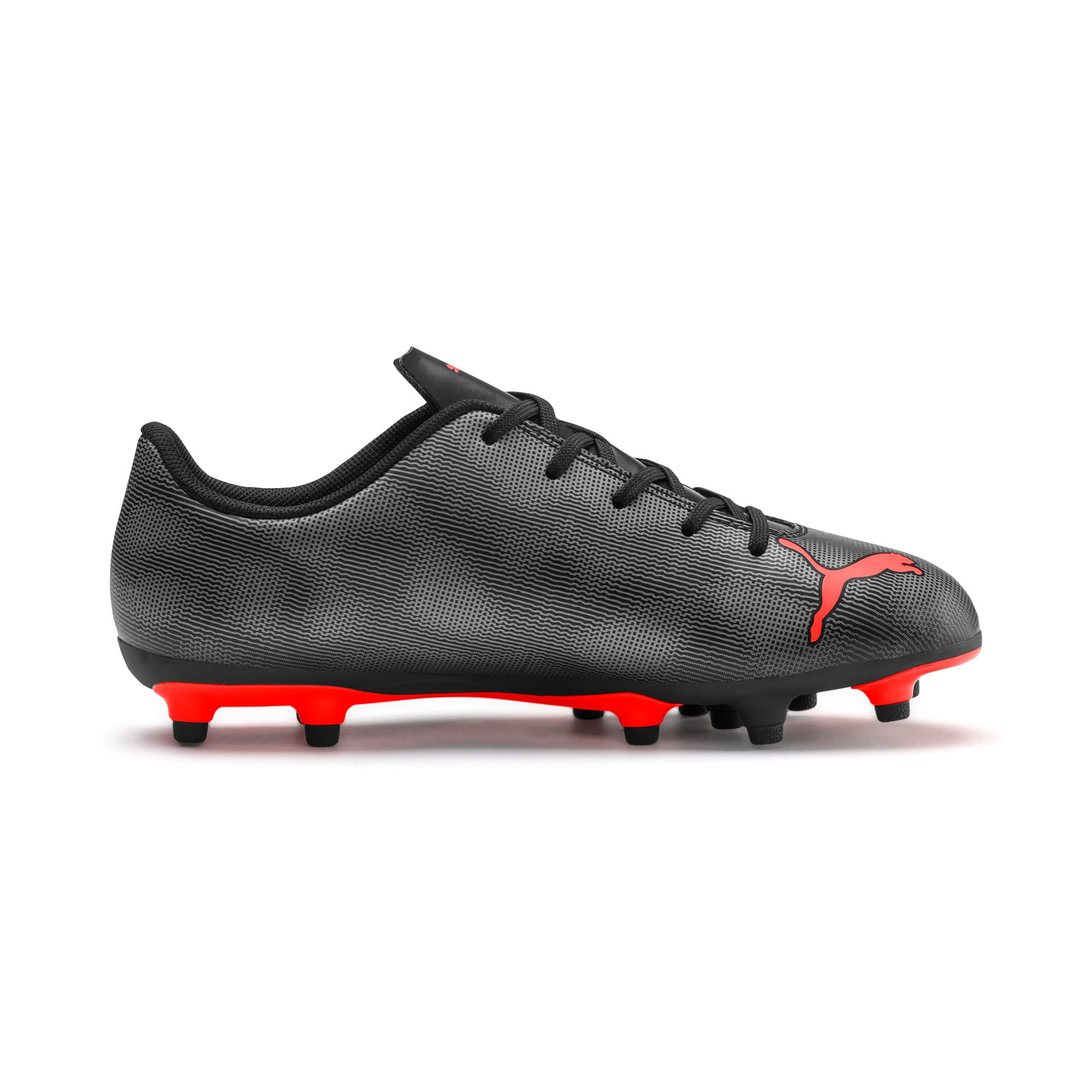 Thumbnail 5 of Rapido FG Youth Football Boots, Black-Nrgy Red-Aged Silver, medium-IND
