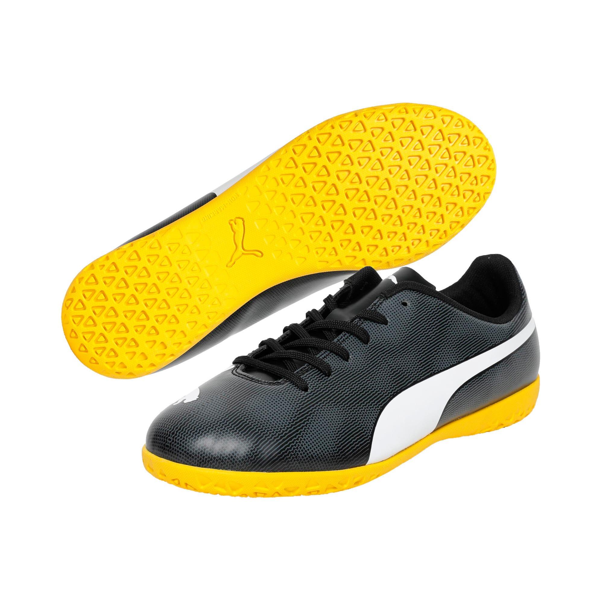 Thumbnail 2 of Rapido IT Youth Football Boots, Black-White-Iron-Yellow, medium-IND