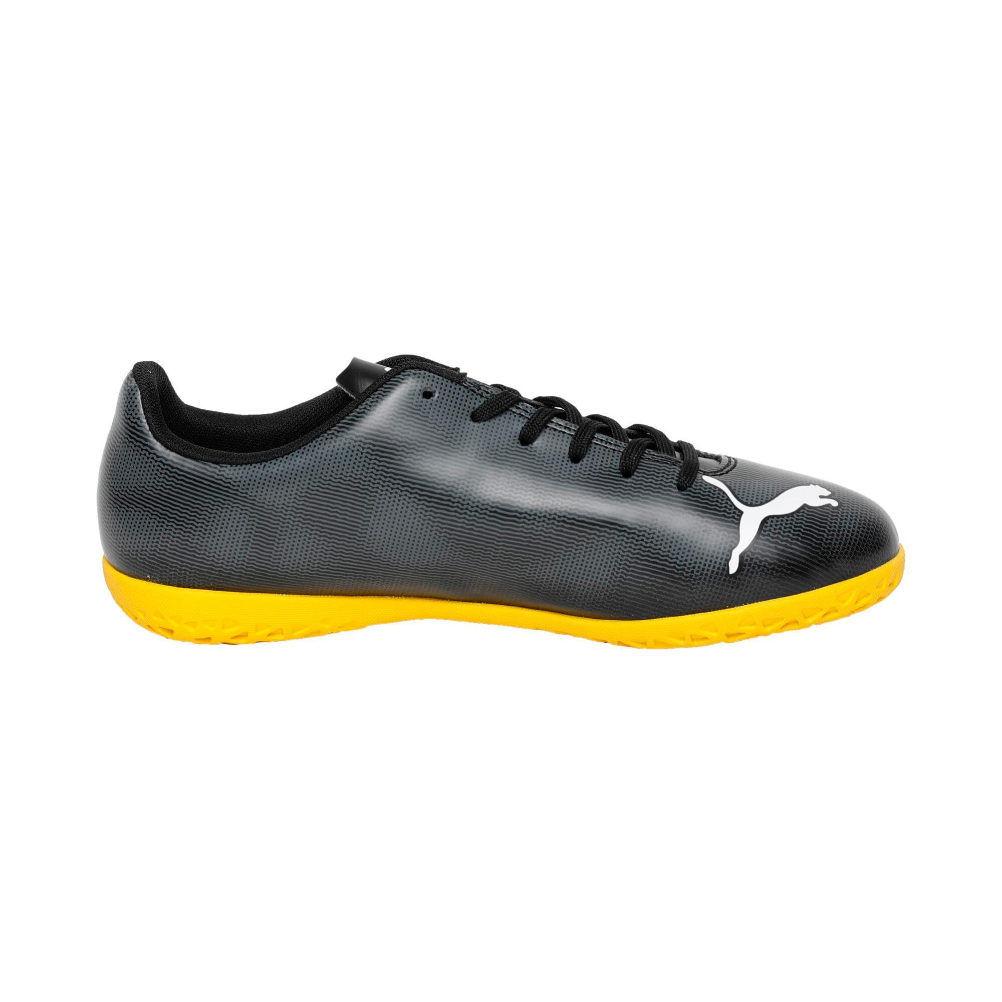 Thumbnail 5 of Rapido IT Youth Football Boots, Black-White-Iron-Yellow, medium-IND