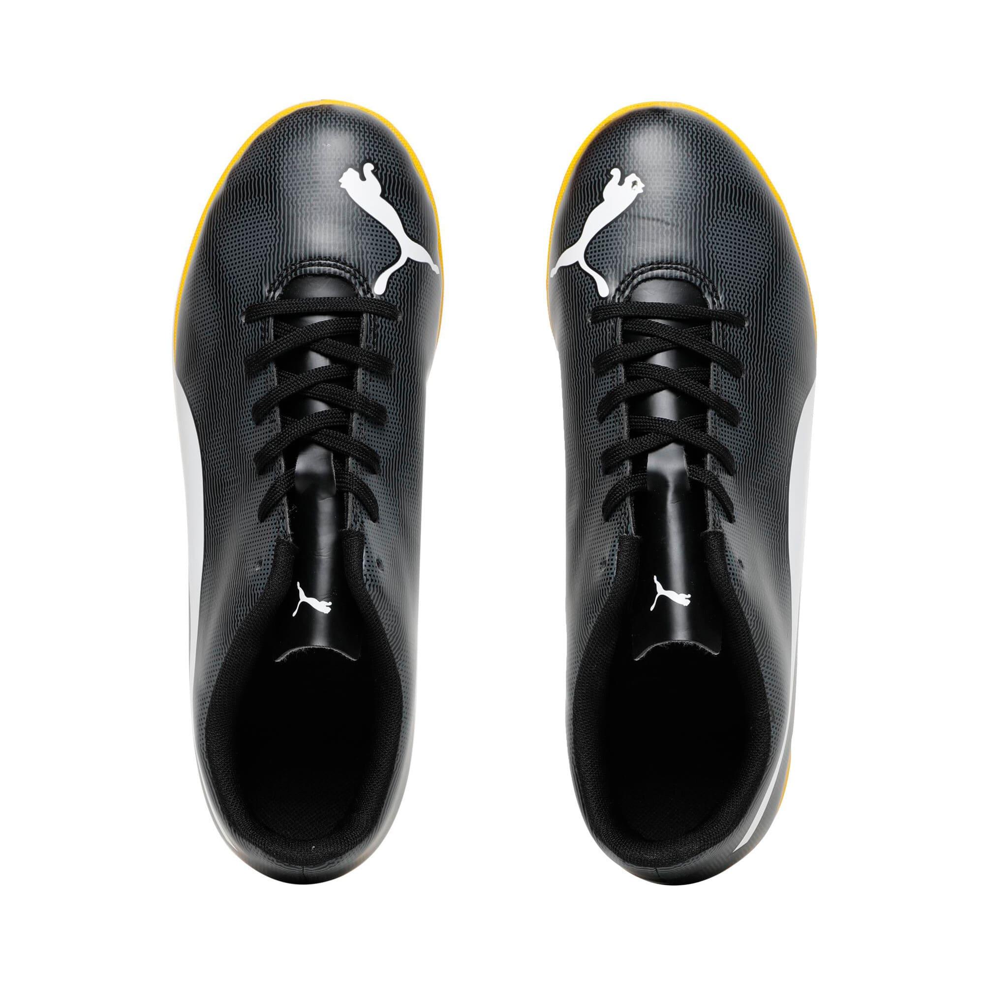 Thumbnail 6 of Rapido IT Youth Football Boots, Black-White-Iron-Yellow, medium-IND