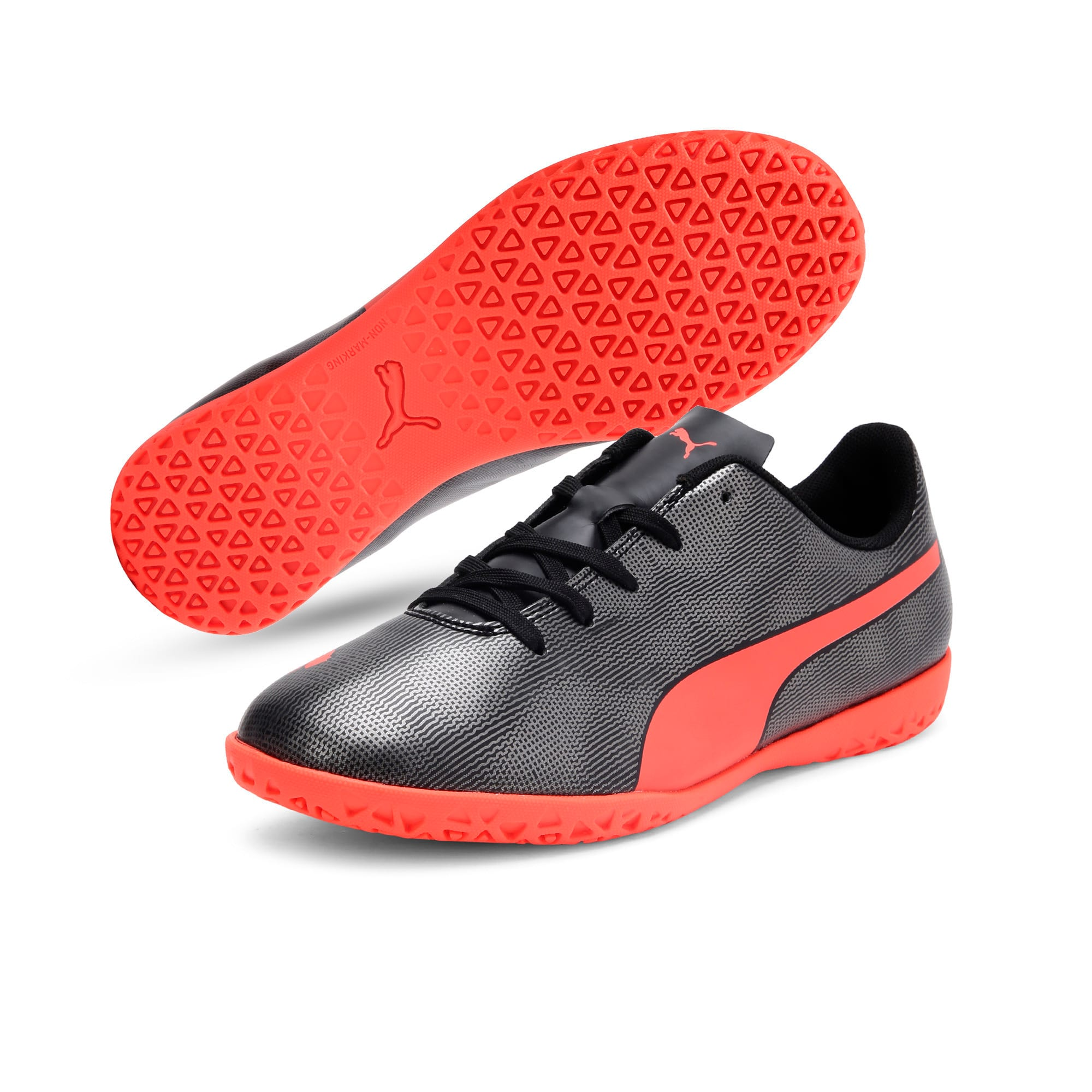 Thumbnail 2 of Rapido IT Youth Football Boots, Black-Nrgy Red-Aged Silver, medium-IND