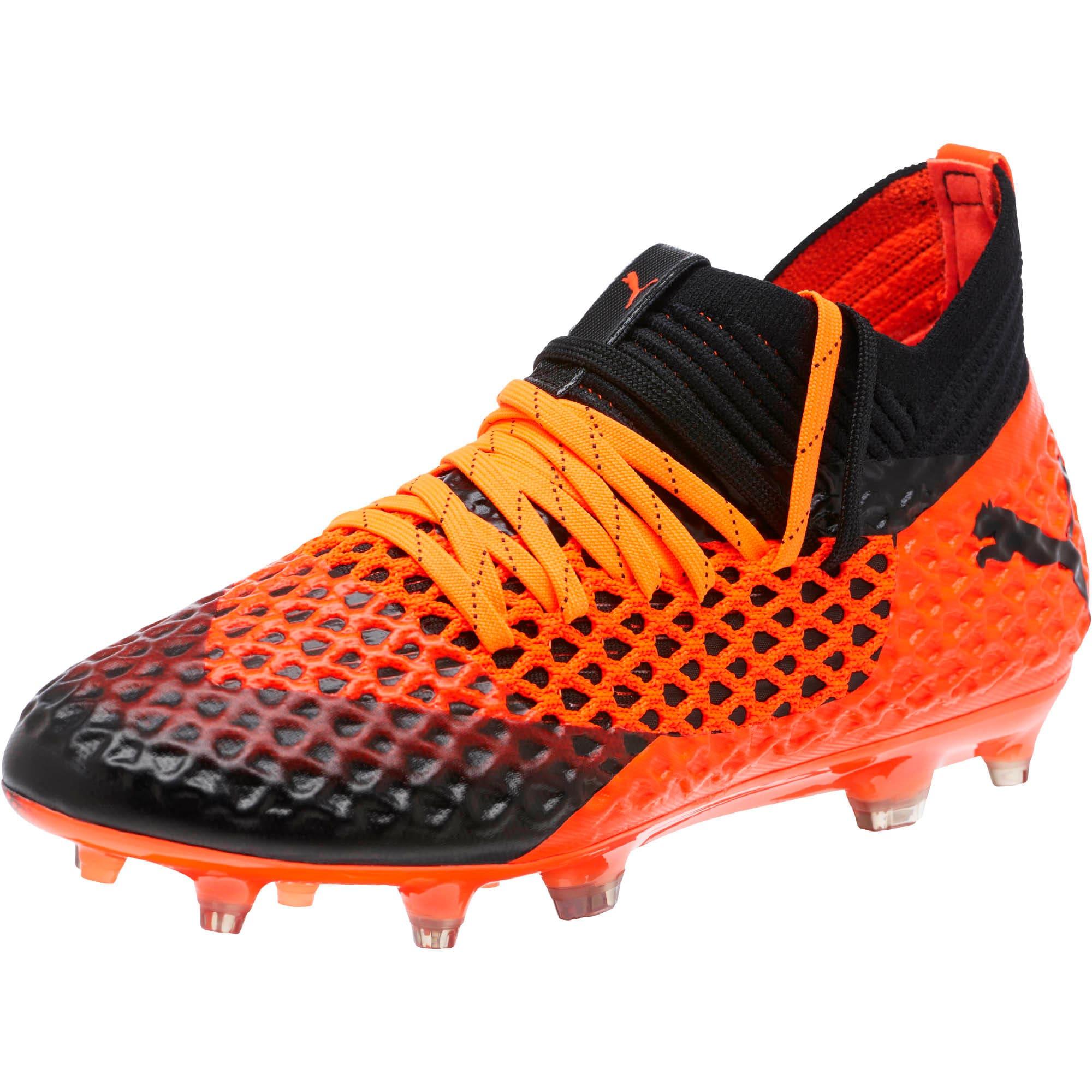 Thumbnail 1 of FUTURE 2.1 NETFIT FG/AG Soccer Cleats JR, Black-Orange, medium