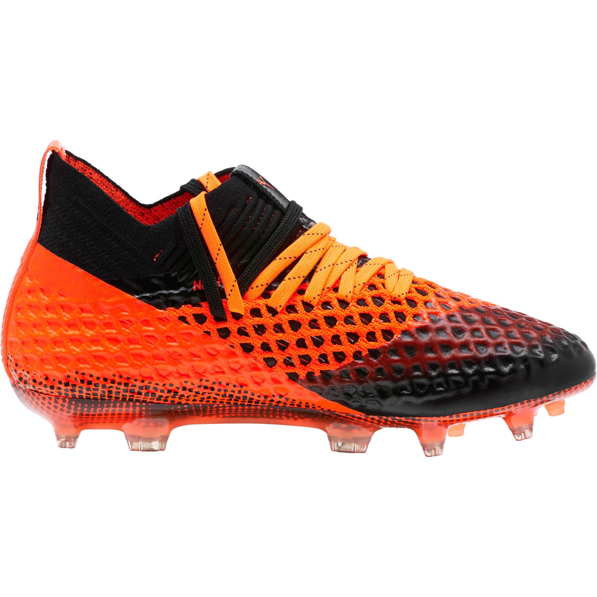 Thumbnail 3 of FUTURE 2.1 NETFIT FG/AG Soccer Cleats JR, Black-Orange, medium