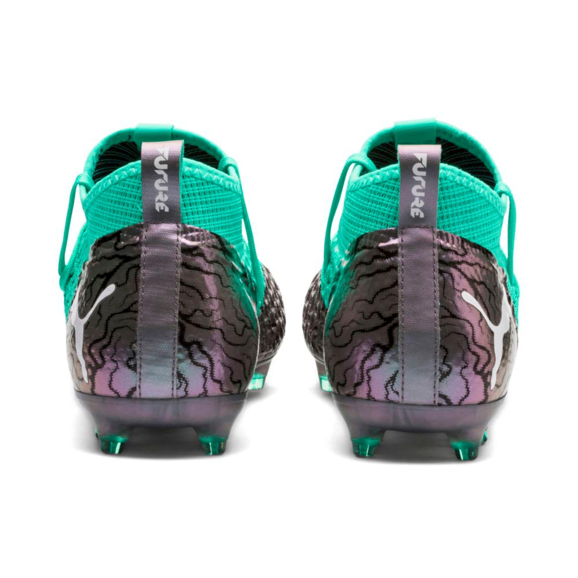 Thumbnail 3 of FUTURE 2.2 NETFIT FG/AG  Football Boots, Col Shift-Green-White-Black, medium-IND