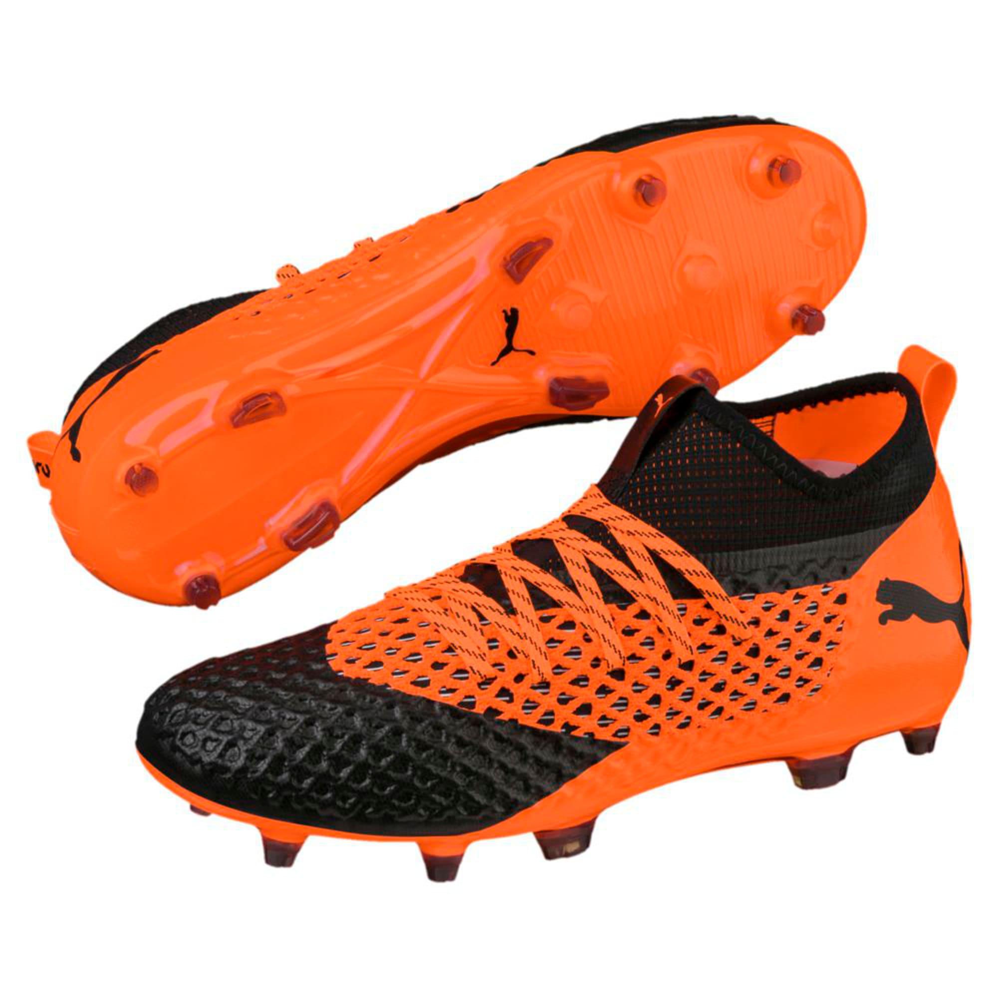 Thumbnail 6 of FUTURE 2.2 NETFIT FG/AG  Football Boots, Black-Orange, medium-IND
