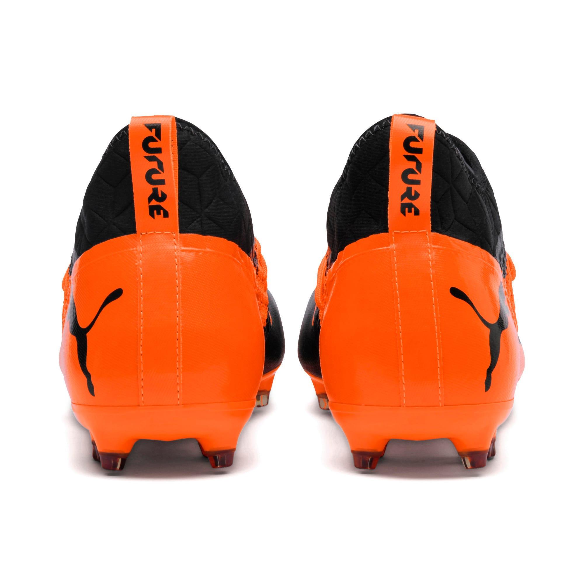 Thumbnail 2 of FUTURE 2.3 NETFIT FG/AG  Football Boots, Puma Black-Shocking Orange, medium-IND