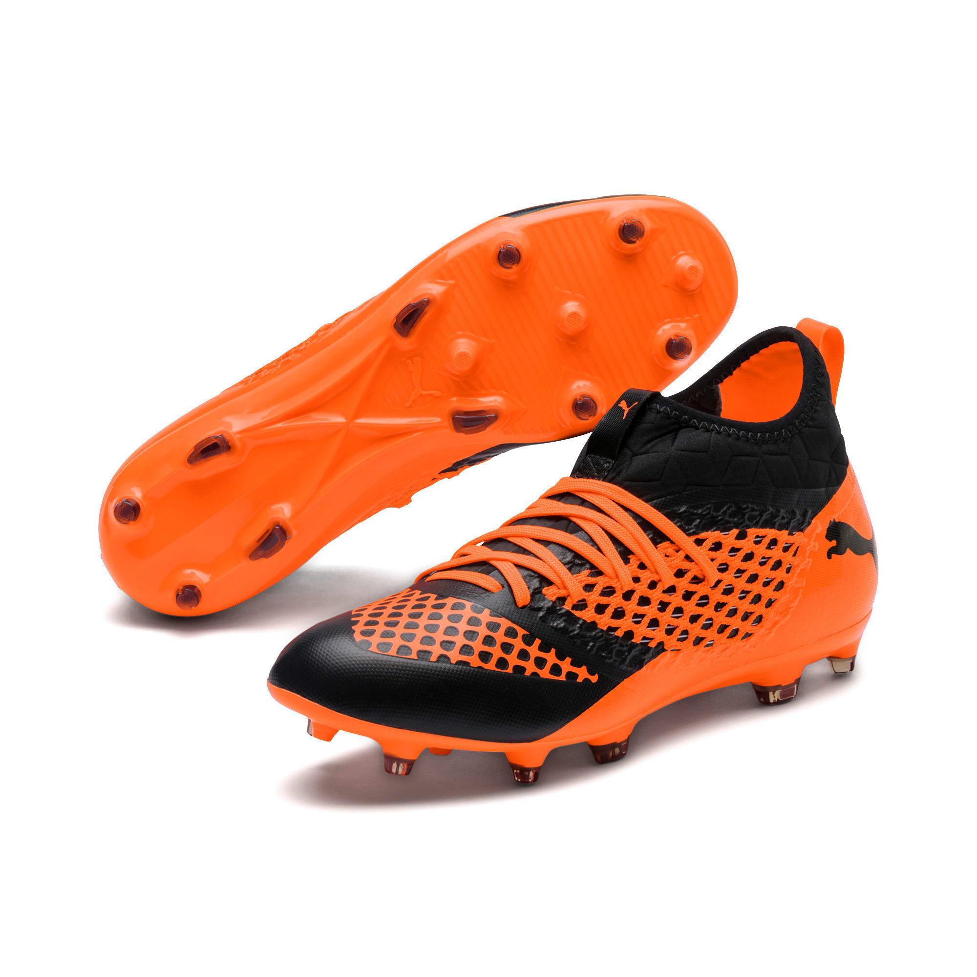 Thumbnail 4 of FUTURE 2.3 NETFIT FG/AG  Football Boots, Puma Black-Shocking Orange, medium-IND