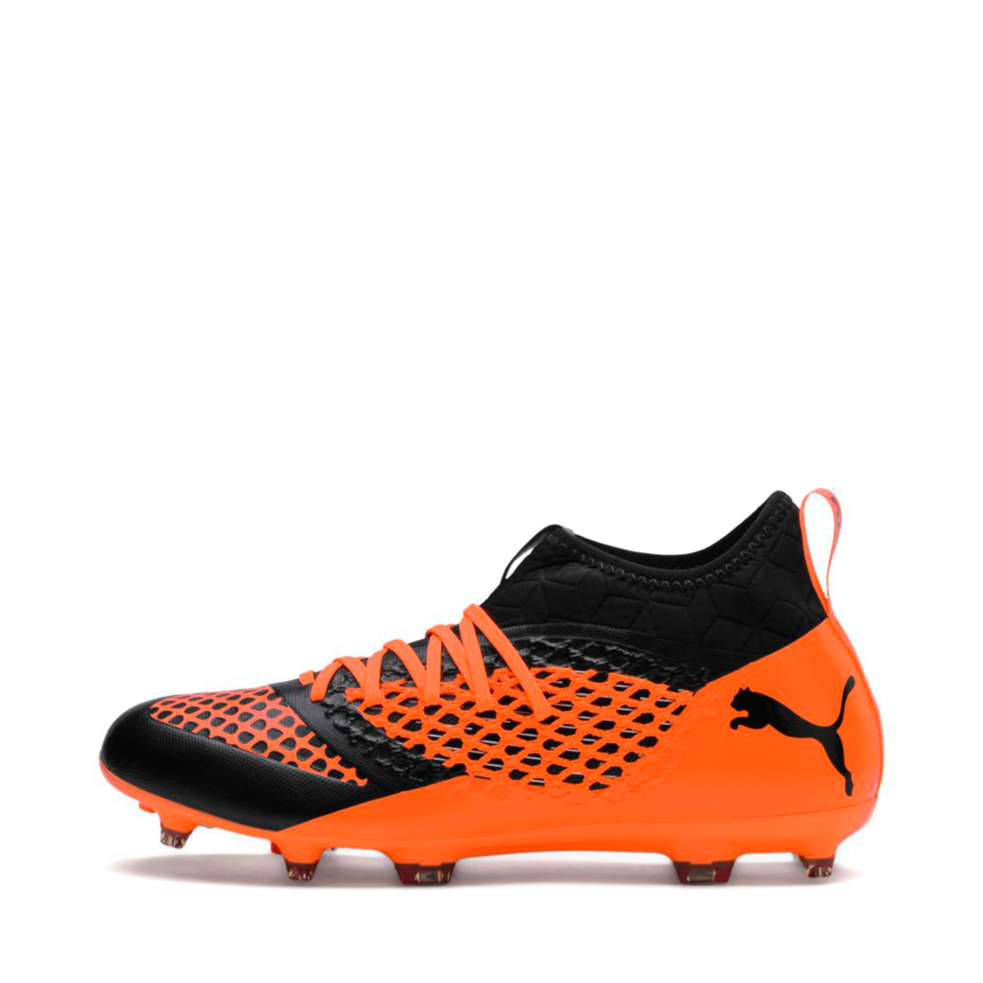 Thumbnail 1 of FUTURE 2.3 NETFIT FG/AG  Football Boots, Puma Black-Shocking Orange, medium-IND