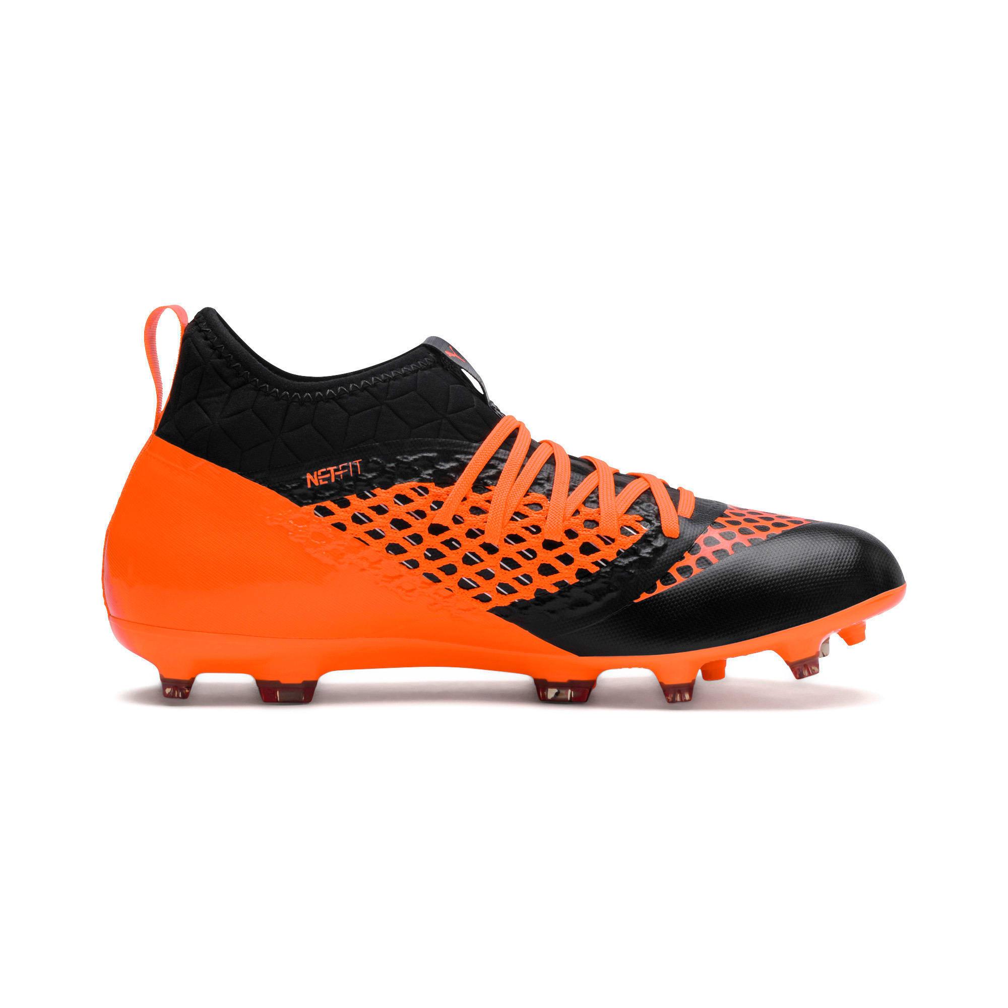 Thumbnail 3 of FUTURE 2.3 NETFIT FG/AG  Football Boots, Puma Black-Shocking Orange, medium-IND