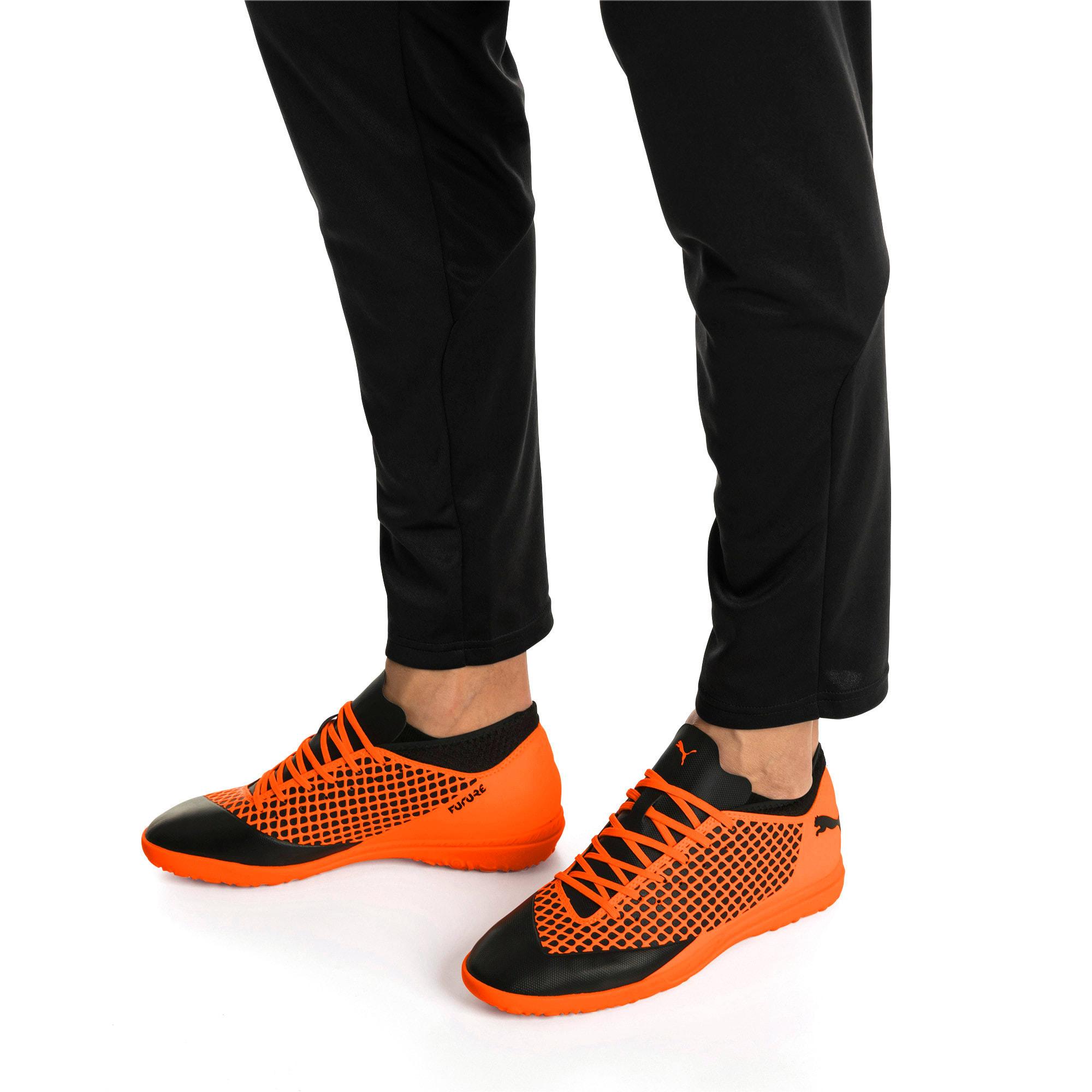 Thumbnail 7 of FUTURE 2.4 TT Men's Football Boots, Puma Black-Shocking Orange, medium-IND