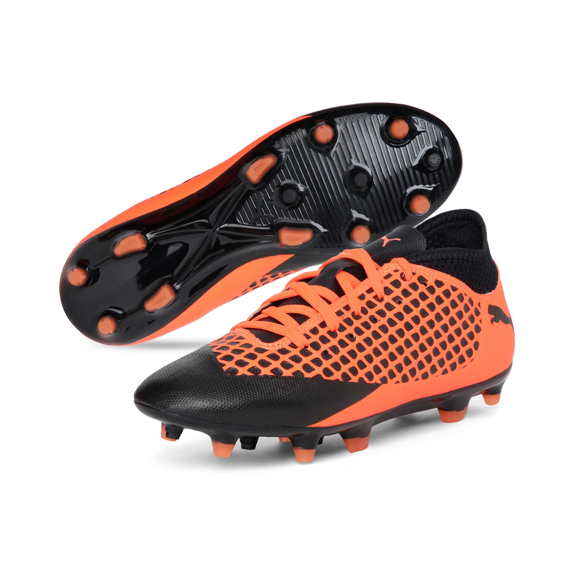Thumbnail 2 of FUTURE 2.4 FG/AG Kids' Football Boots, Black-Orange, medium-IND