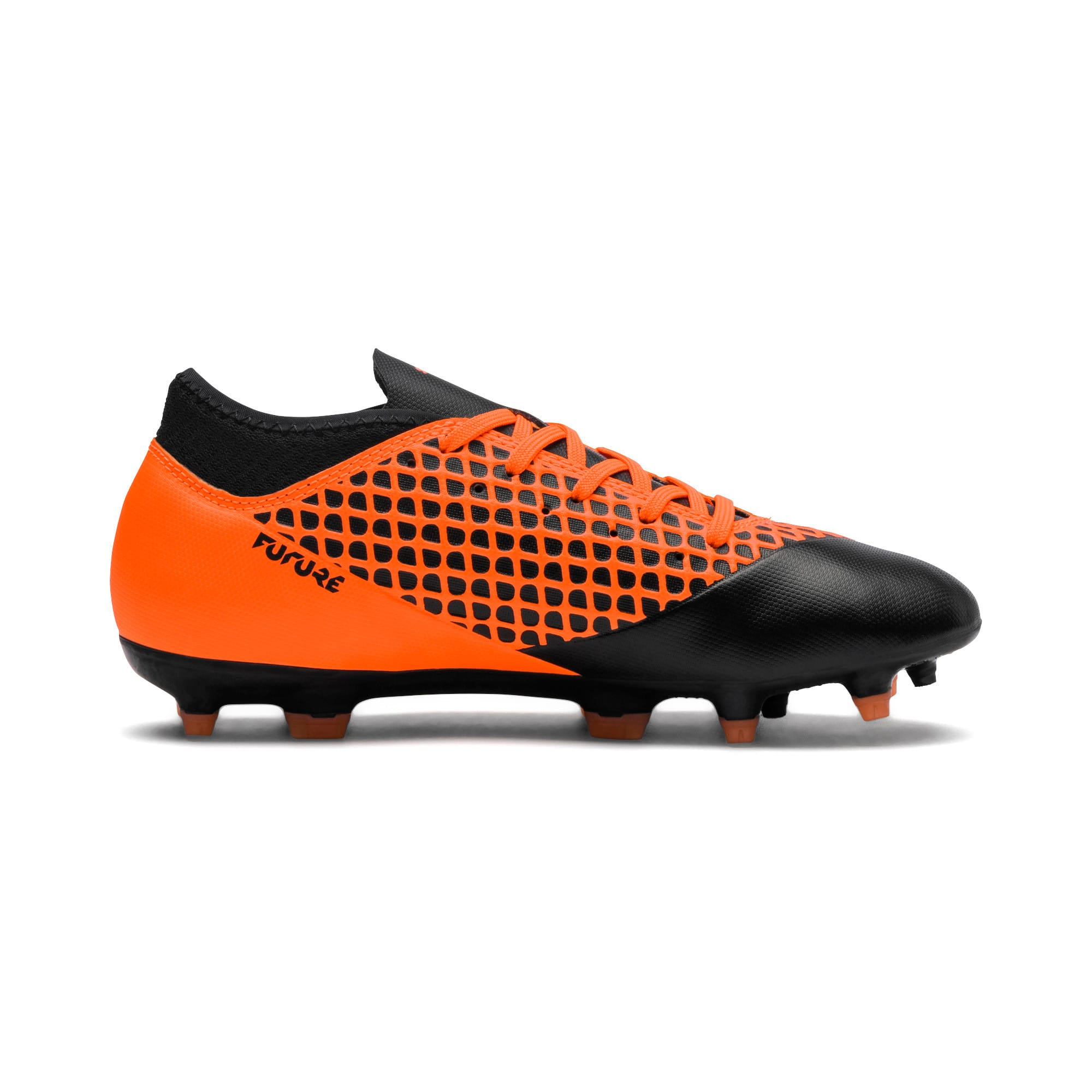 Thumbnail 5 of FUTURE 2.4 FG/AG Kids' Football Boots, Black-Orange, medium-IND