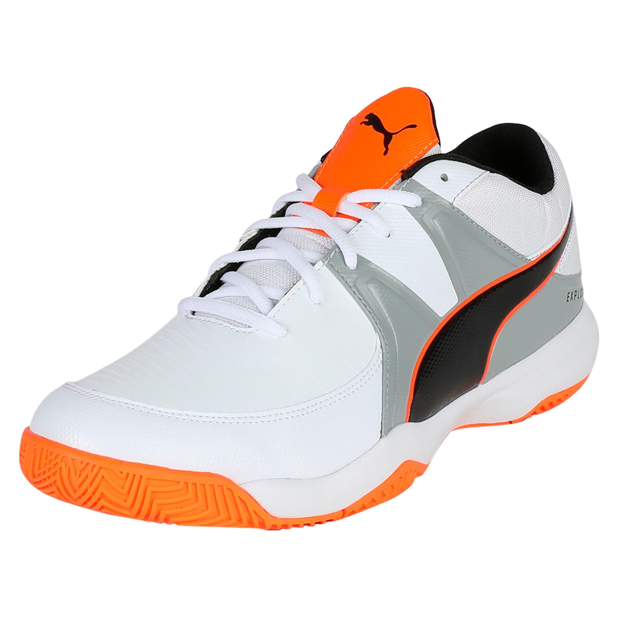 Thumbnail 1 of Explode 3 Men's Indoor Training Shoes, White-Quarry-Orange, medium-IND