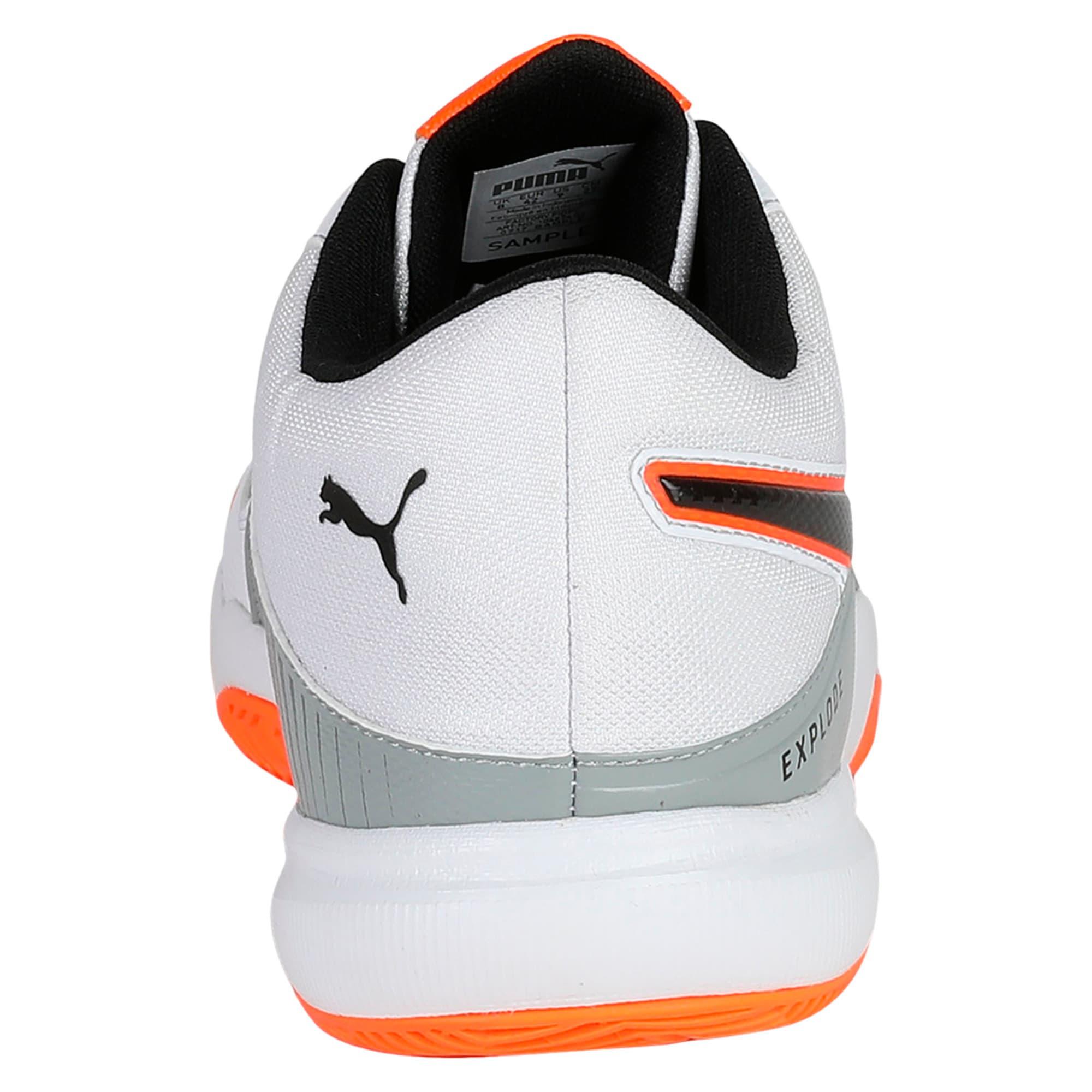 Thumbnail 3 of Explode 3 Men's Indoor Training Shoes, White-Quarry-Orange, medium-IND