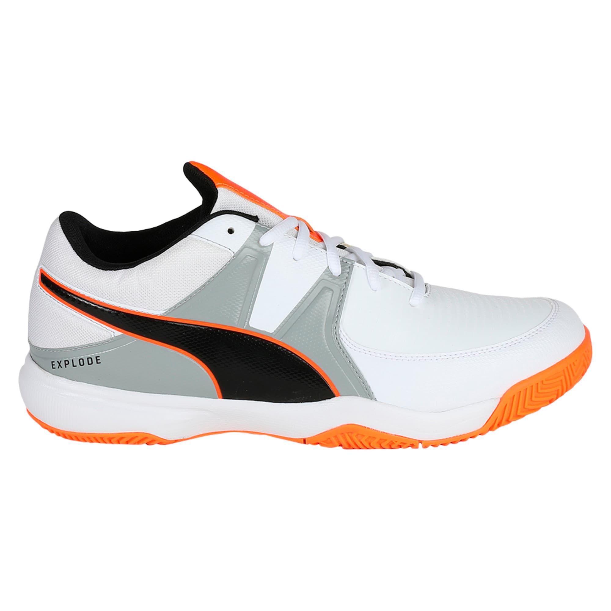 Thumbnail 4 of Explode 3 Men's Indoor Training Shoes, White-Quarry-Orange, medium-IND