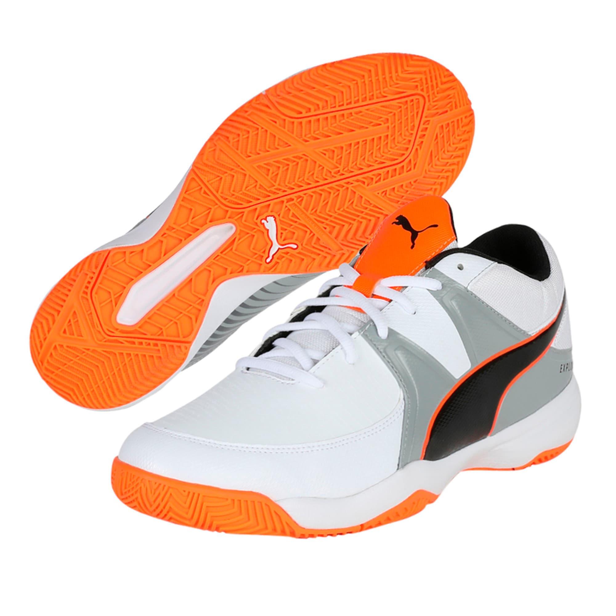 Thumbnail 5 of Explode 3 Men's Indoor Training Shoes, White-Quarry-Orange, medium-IND