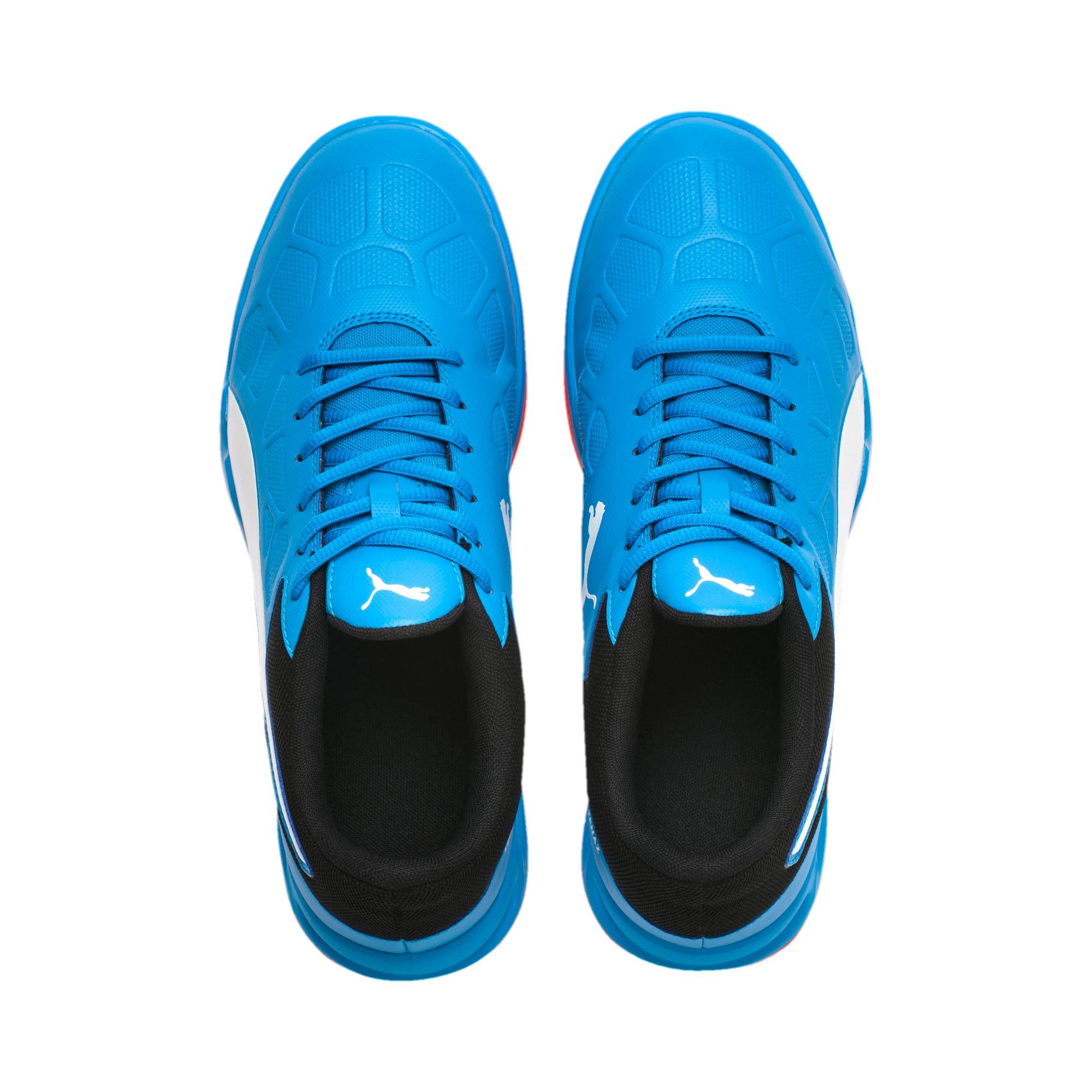 Thumbnail 2 of Tenaz Indoor Teamsport Shoes, Bleu Azur-White-Black-Red, medium-IND
