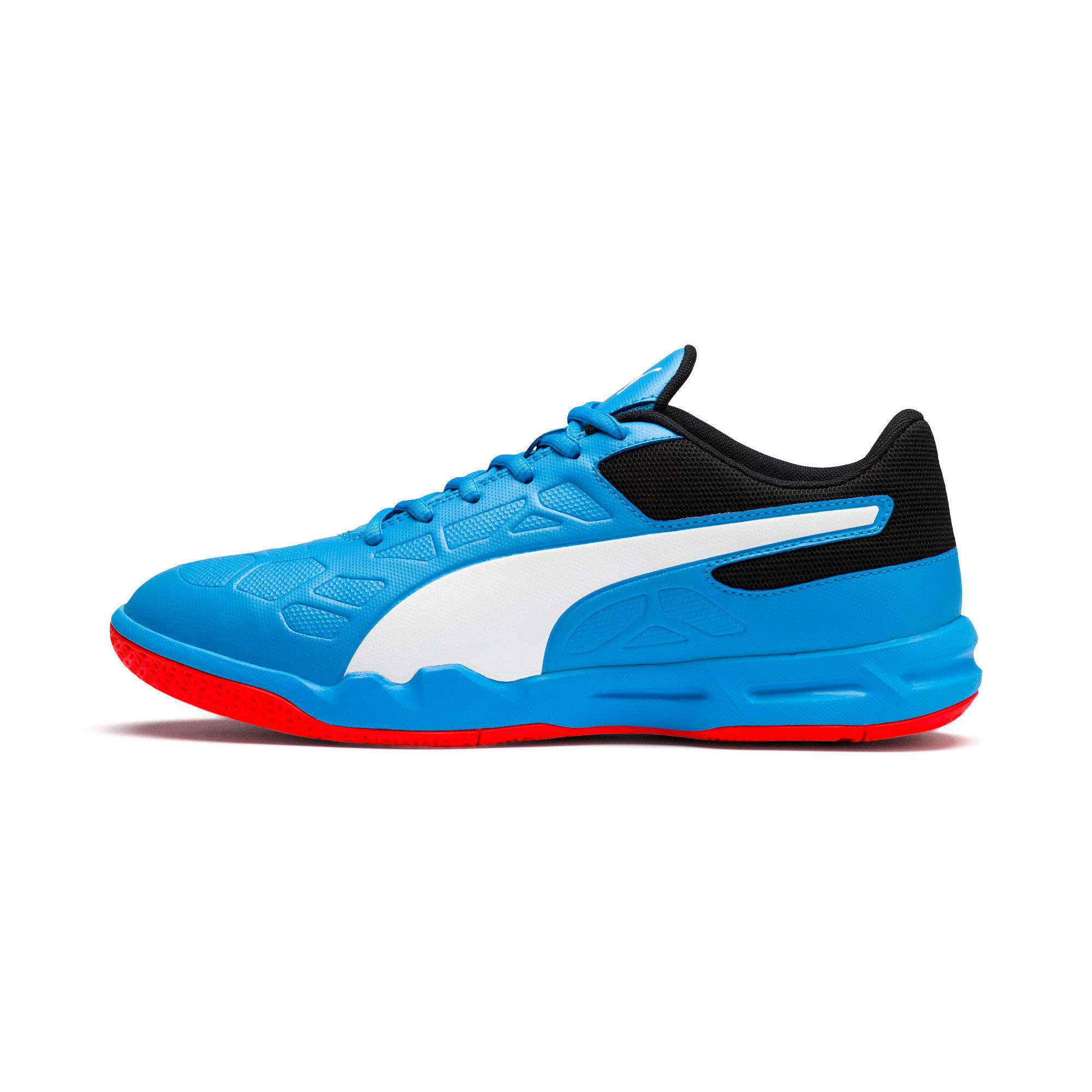Thumbnail 1 of Tenaz Indoor Teamsport Shoes, Bleu Azur-White-Black-Red, medium-IND