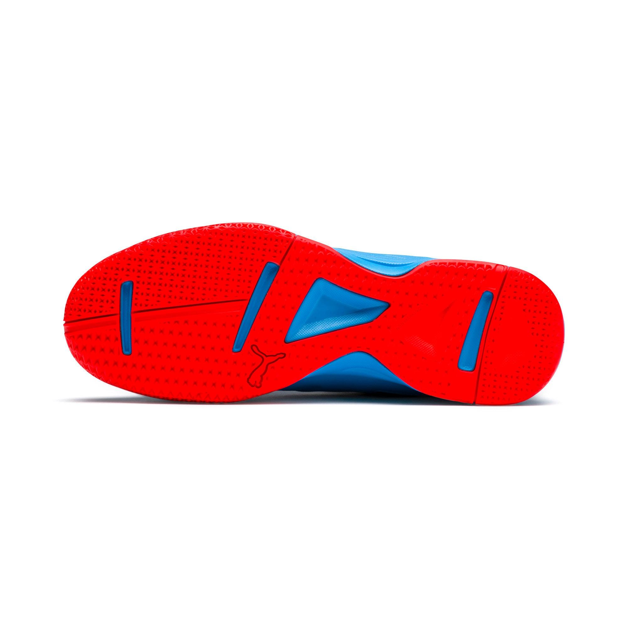 Thumbnail 5 of Tenaz Indoor Teamsport Shoes, Bleu Azur-White-Black-Red, medium-IND