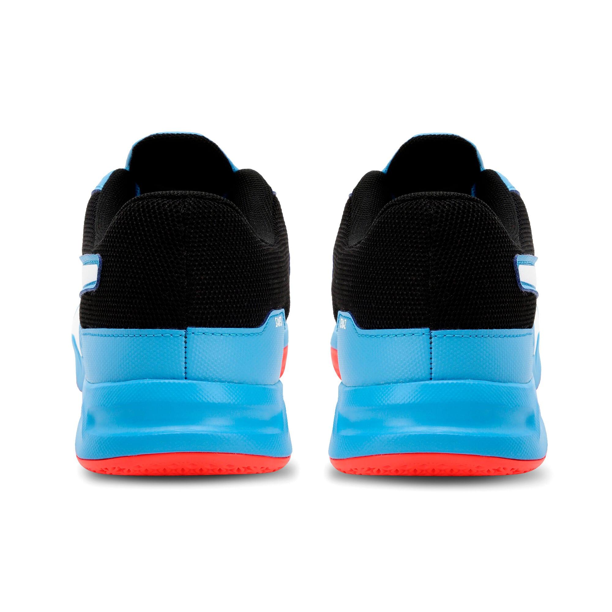 Thumbnail 3 of Tenaz Kids' Indoor Teamsport Shoes, Bleu Azur-White-Black-Red, medium-IND
