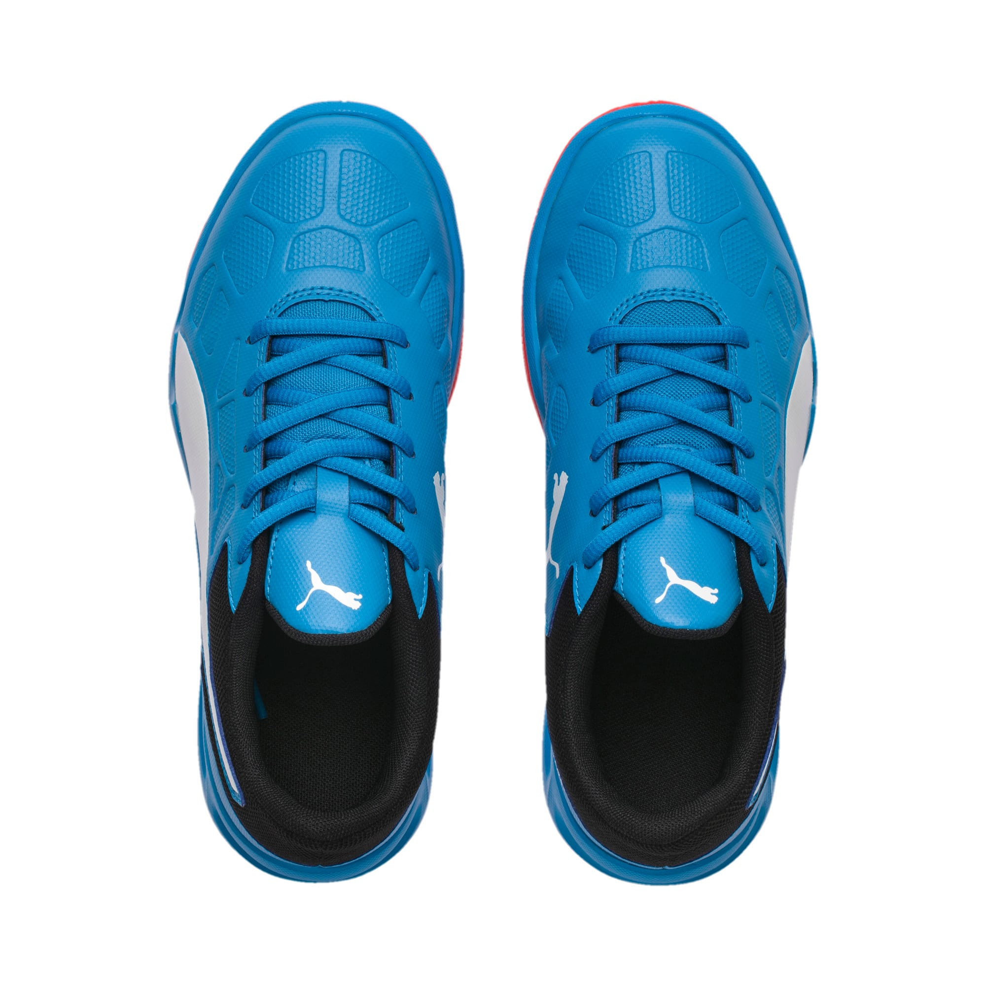 Thumbnail 2 of Tenaz Kids' Indoor Teamsport Shoes, Bleu Azur-White-Black-Red, medium-IND