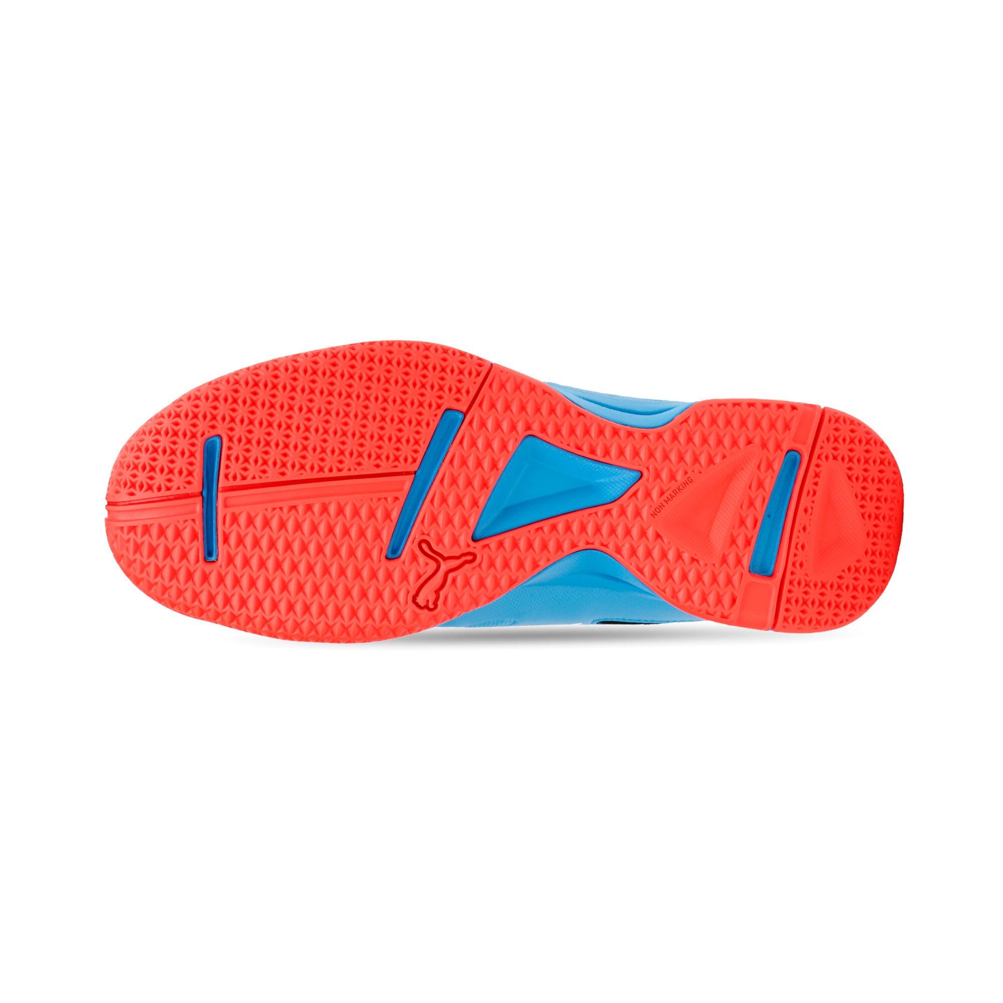 Thumbnail 4 of Tenaz Kids' Indoor Teamsport Shoes, Bleu Azur-White-Black-Red, medium-IND