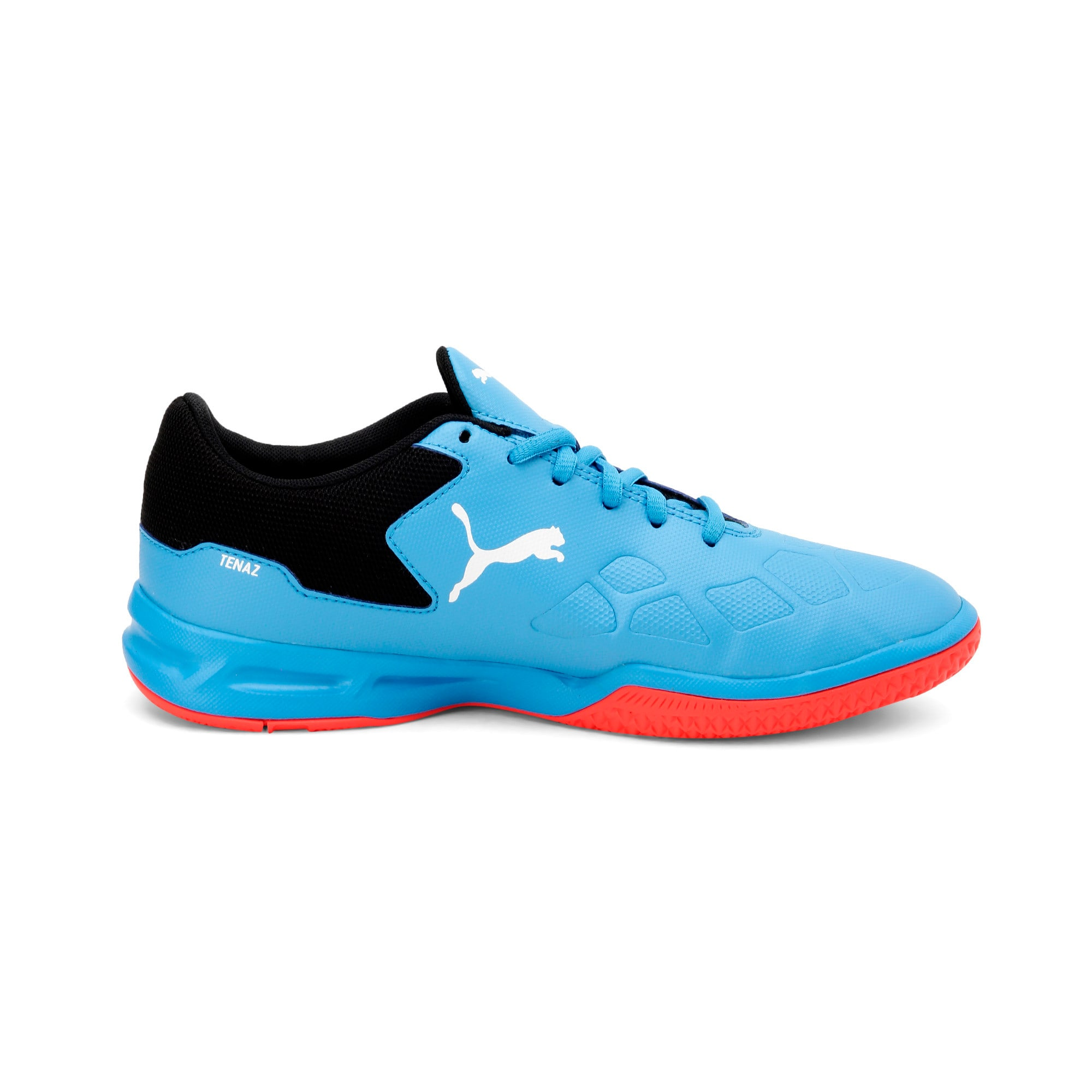 Thumbnail 5 of Tenaz Kids' Indoor Teamsport Shoes, Bleu Azur-White-Black-Red, medium-IND