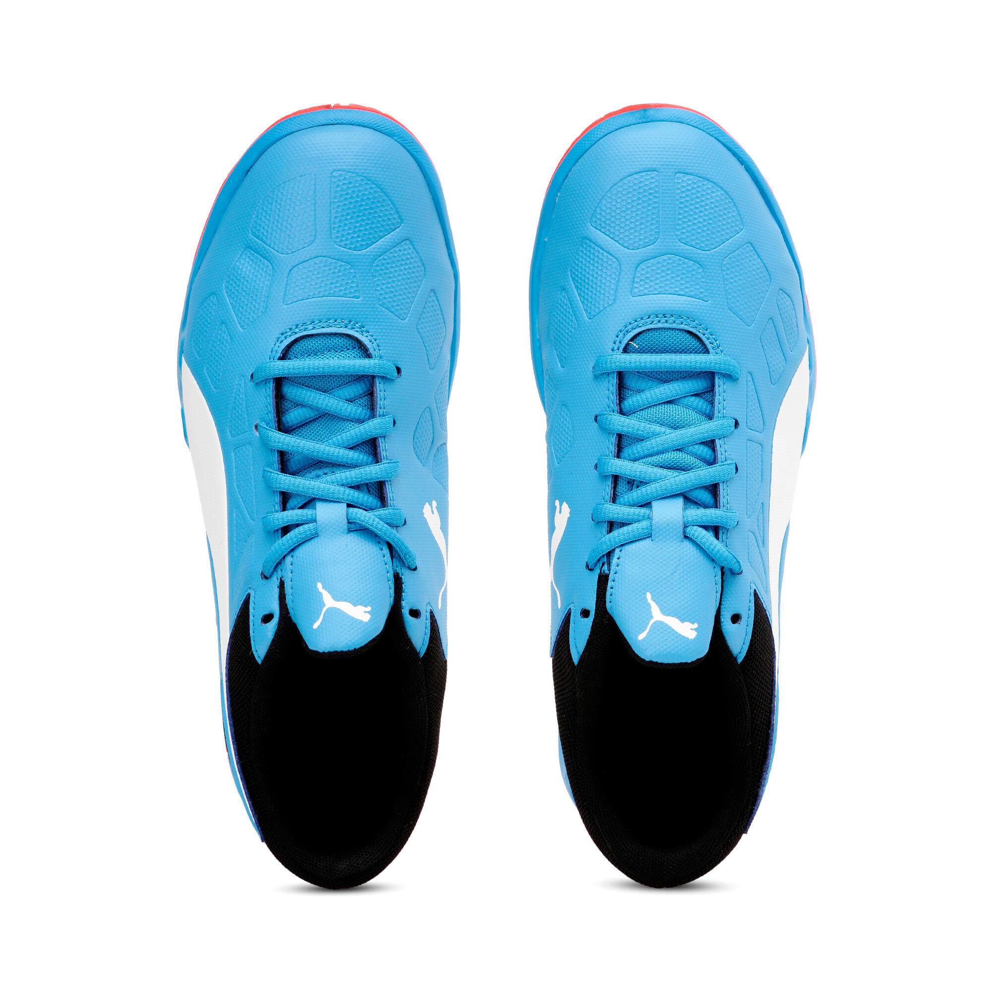 Thumbnail 6 of Tenaz Kids' Indoor Teamsport Shoes, Bleu Azur-White-Black-Red, medium-IND